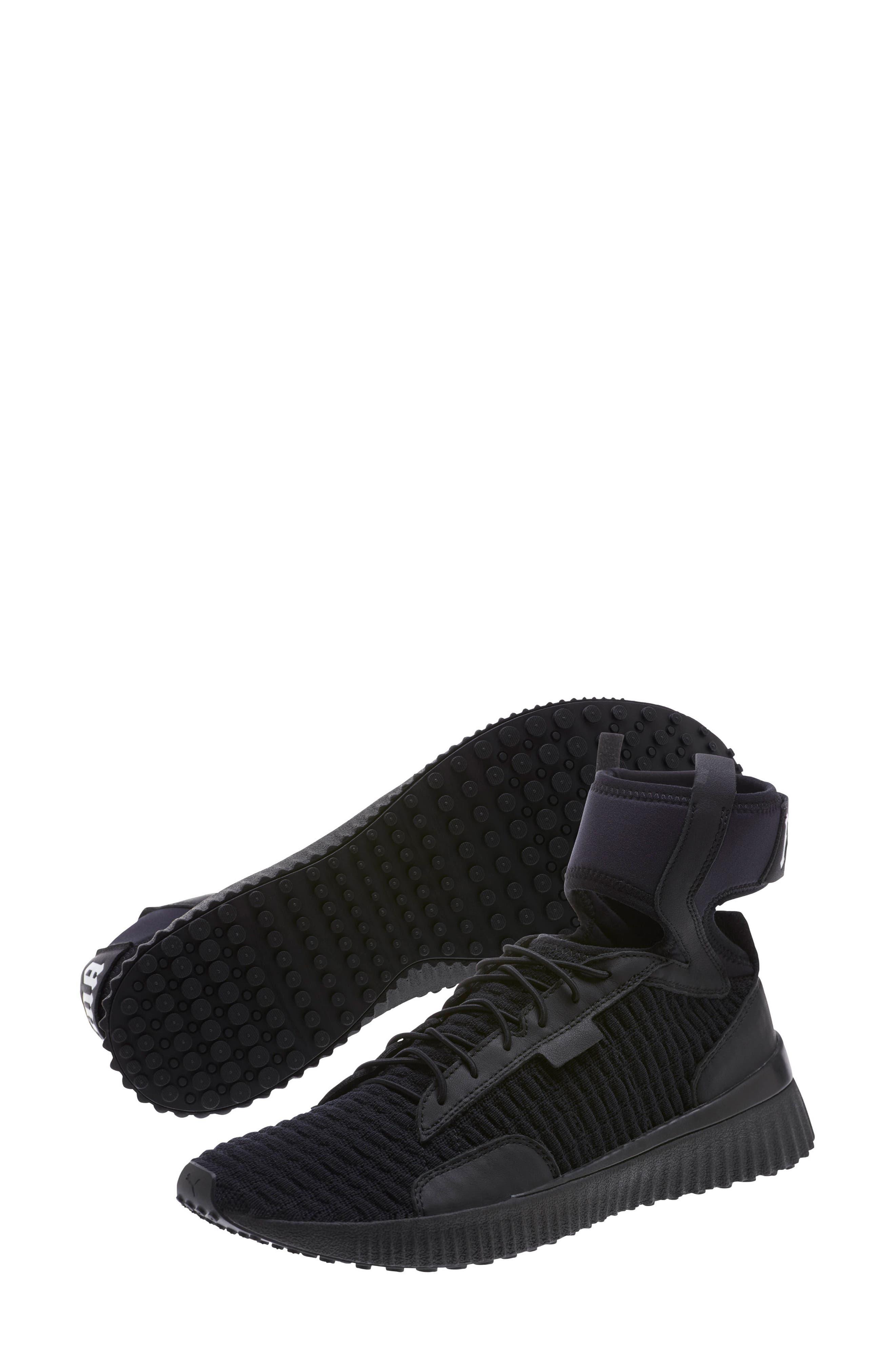 FENTY PUMA by Rihanna High Top Sneaker,                             Alternate thumbnail 7, color,                             001