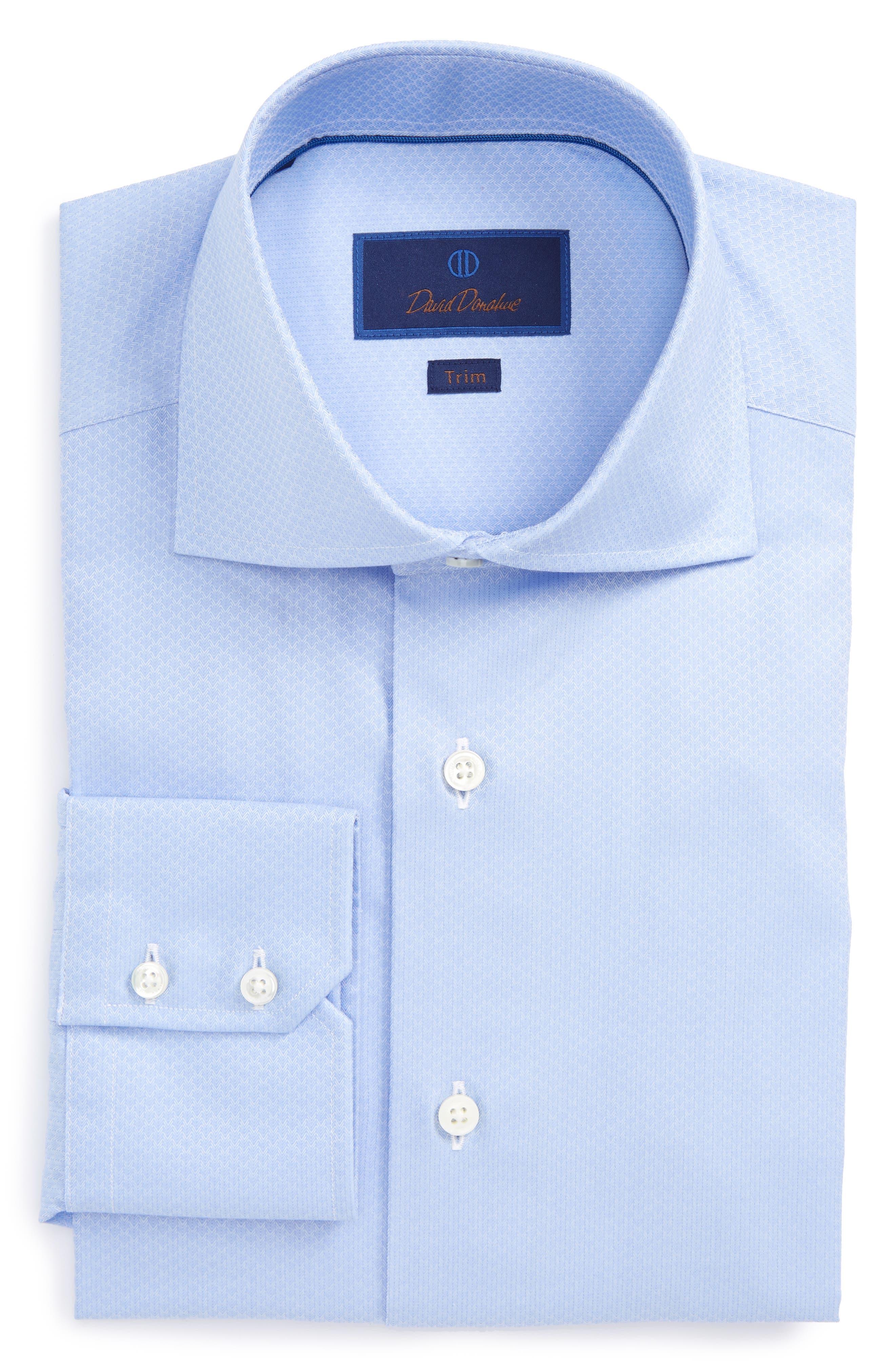 Trim Fit Herringbone Weave Dress Shirt,                             Main thumbnail 1, color,                             423