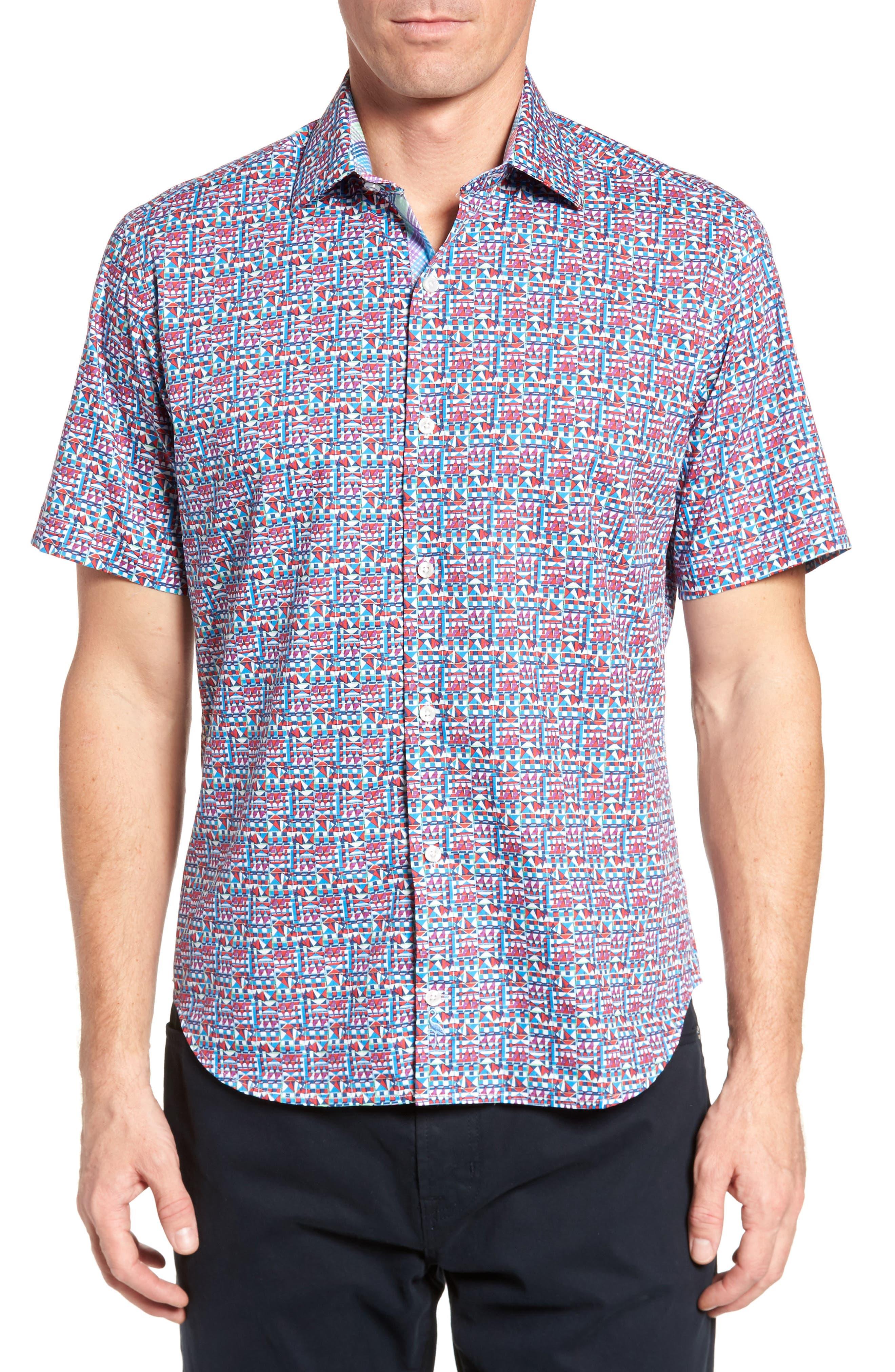 Maurice Print Sport Shirt,                         Main,                         color, 950