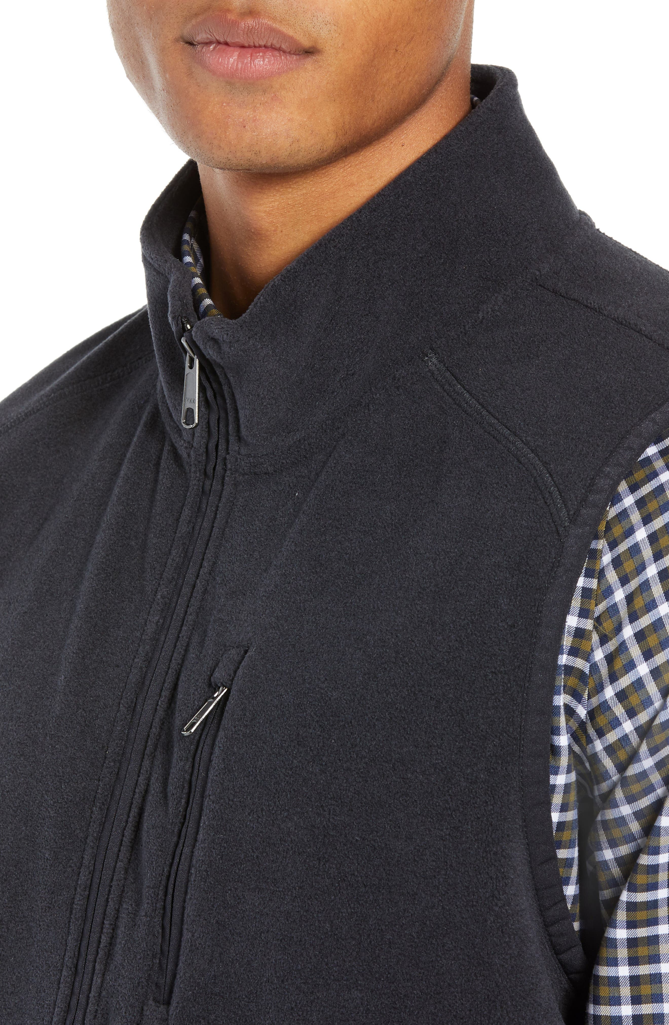 Polar Fleece Vest,                             Alternate thumbnail 4, color,                             001