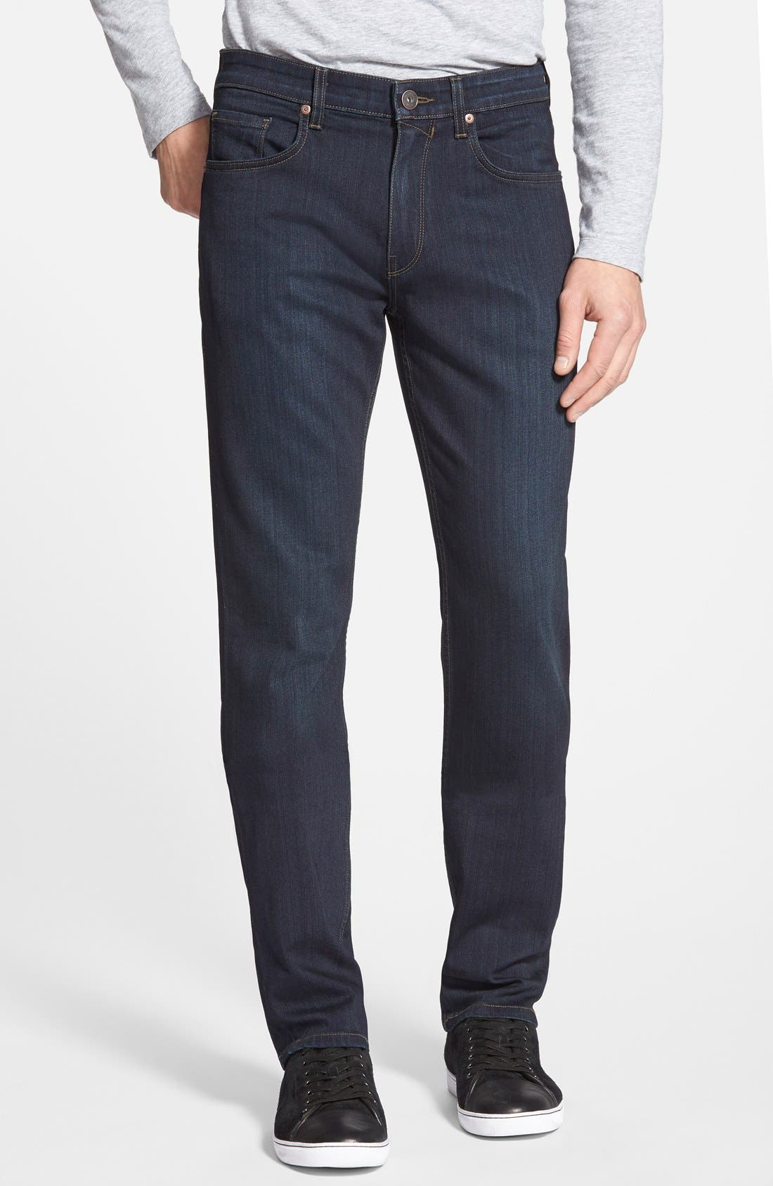 PAIGE,                             Transcend - Federal XL Slim Straight Leg Jeans,                             Main thumbnail 1, color,                             CELLAR/ CELLAR