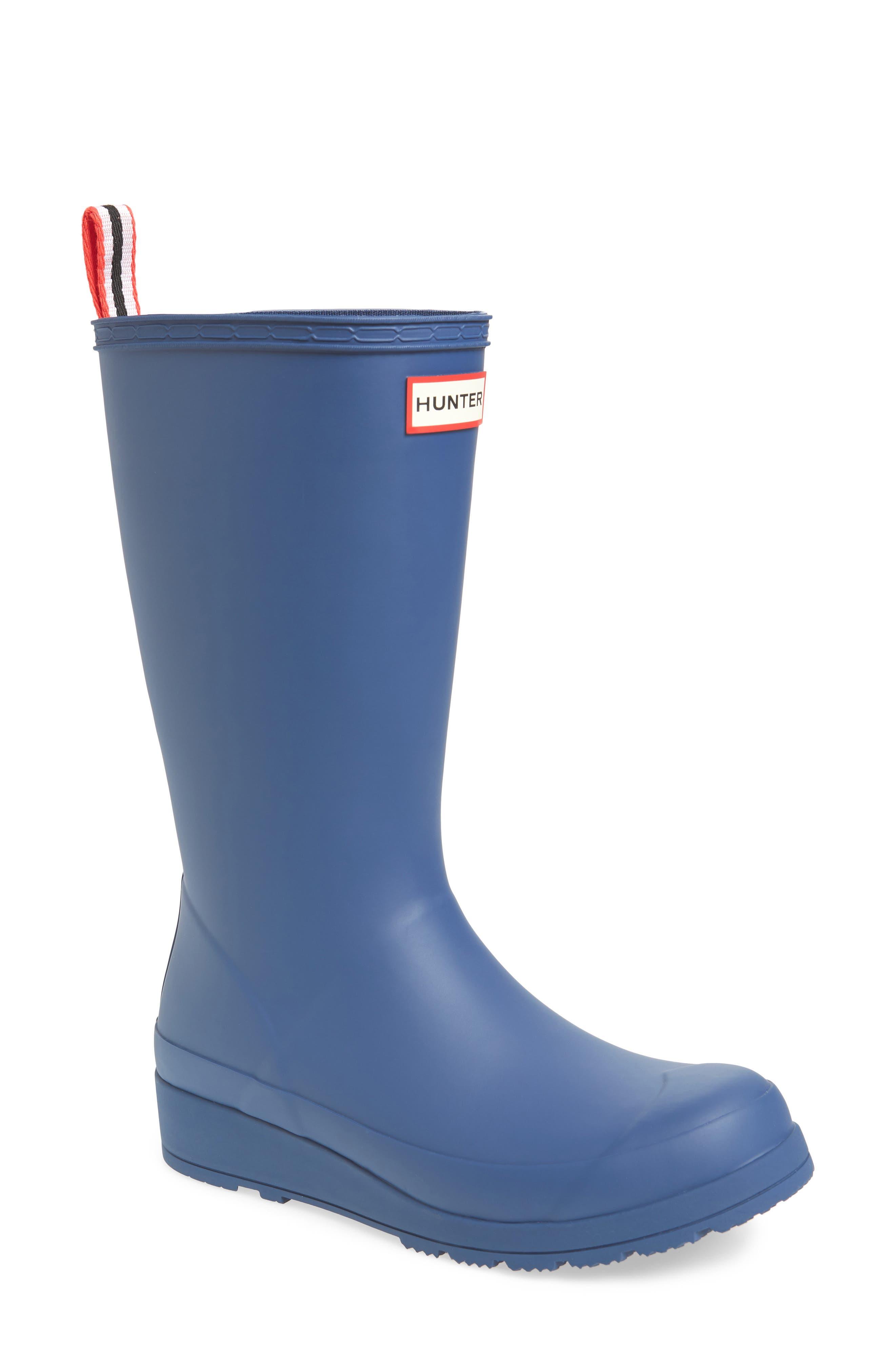 Original Play Tall Rain Boot,                             Main thumbnail 1, color,                             PEAK BLUE