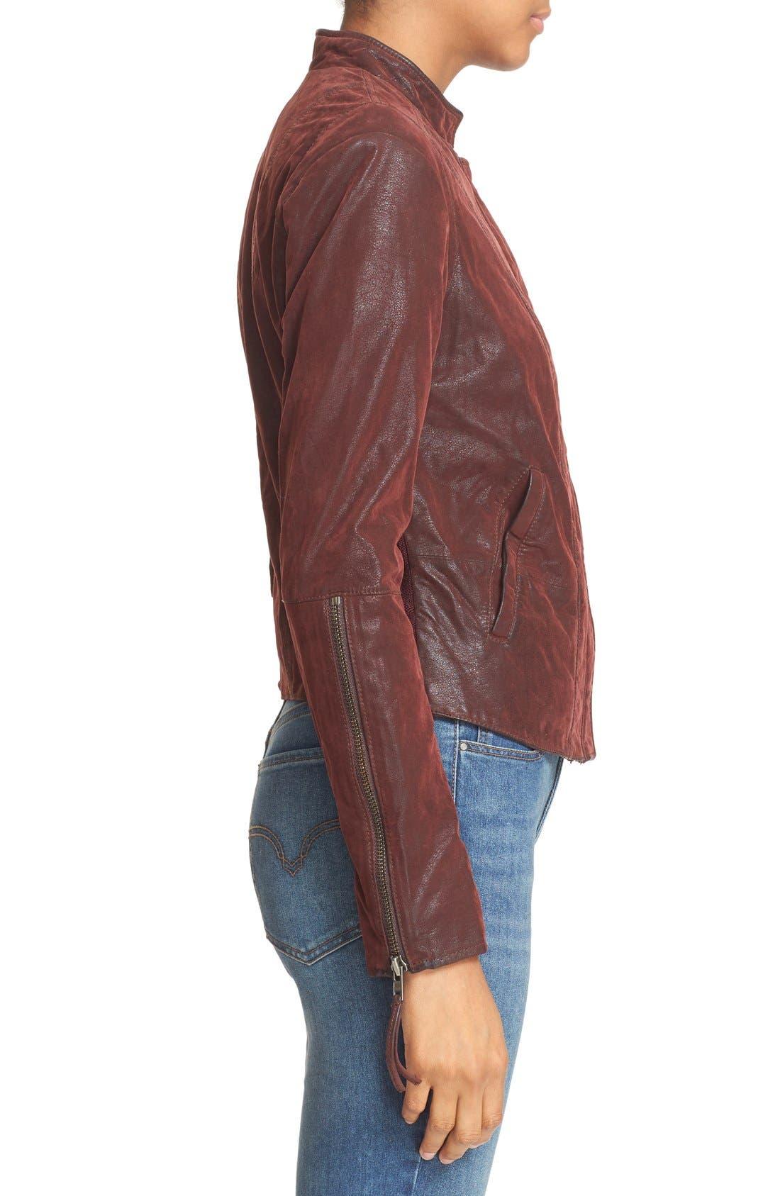 Faux Leather Jacket,                             Alternate thumbnail 18, color,