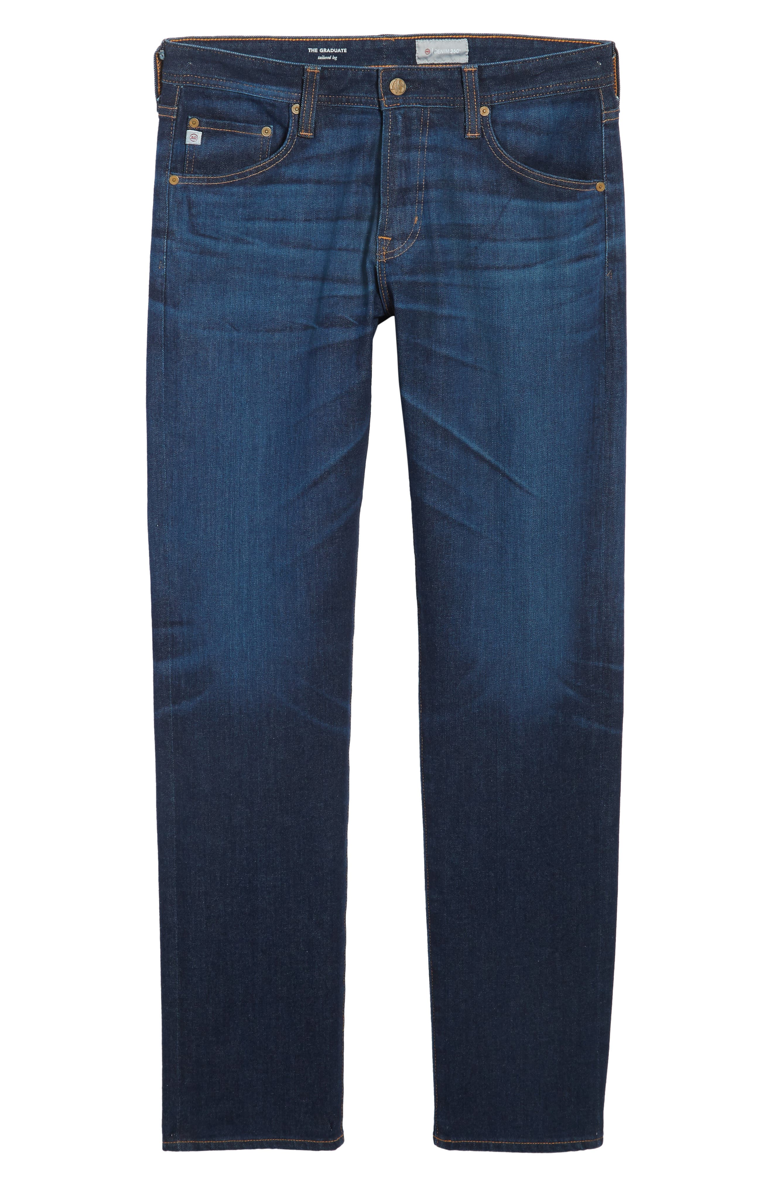 Graduate Slim Straight Fit Jeans,                             Alternate thumbnail 6, color,