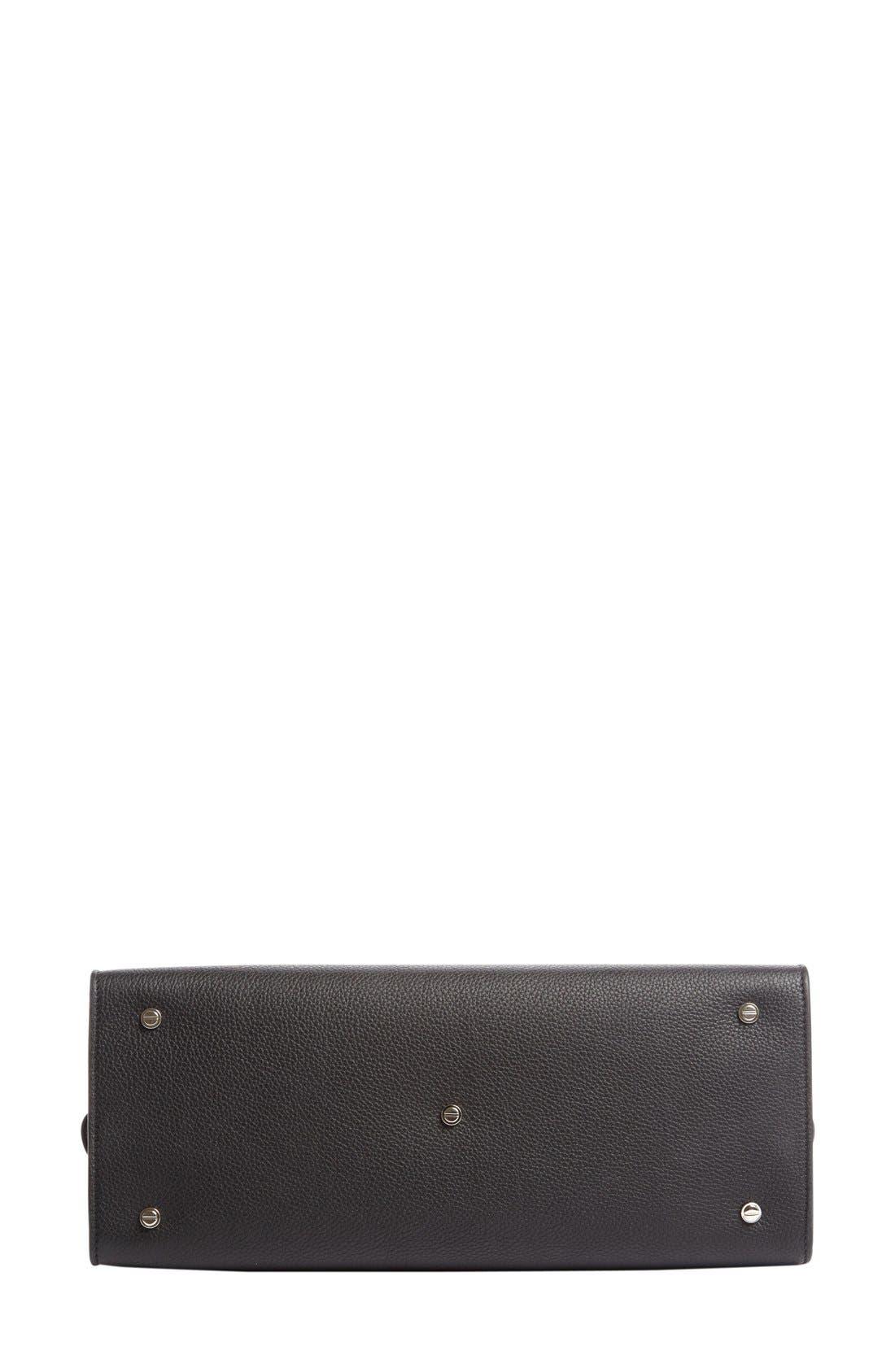 Medium Horizon Grained Calfskin Leather Tote,                             Alternate thumbnail 9, color,                             BLACK