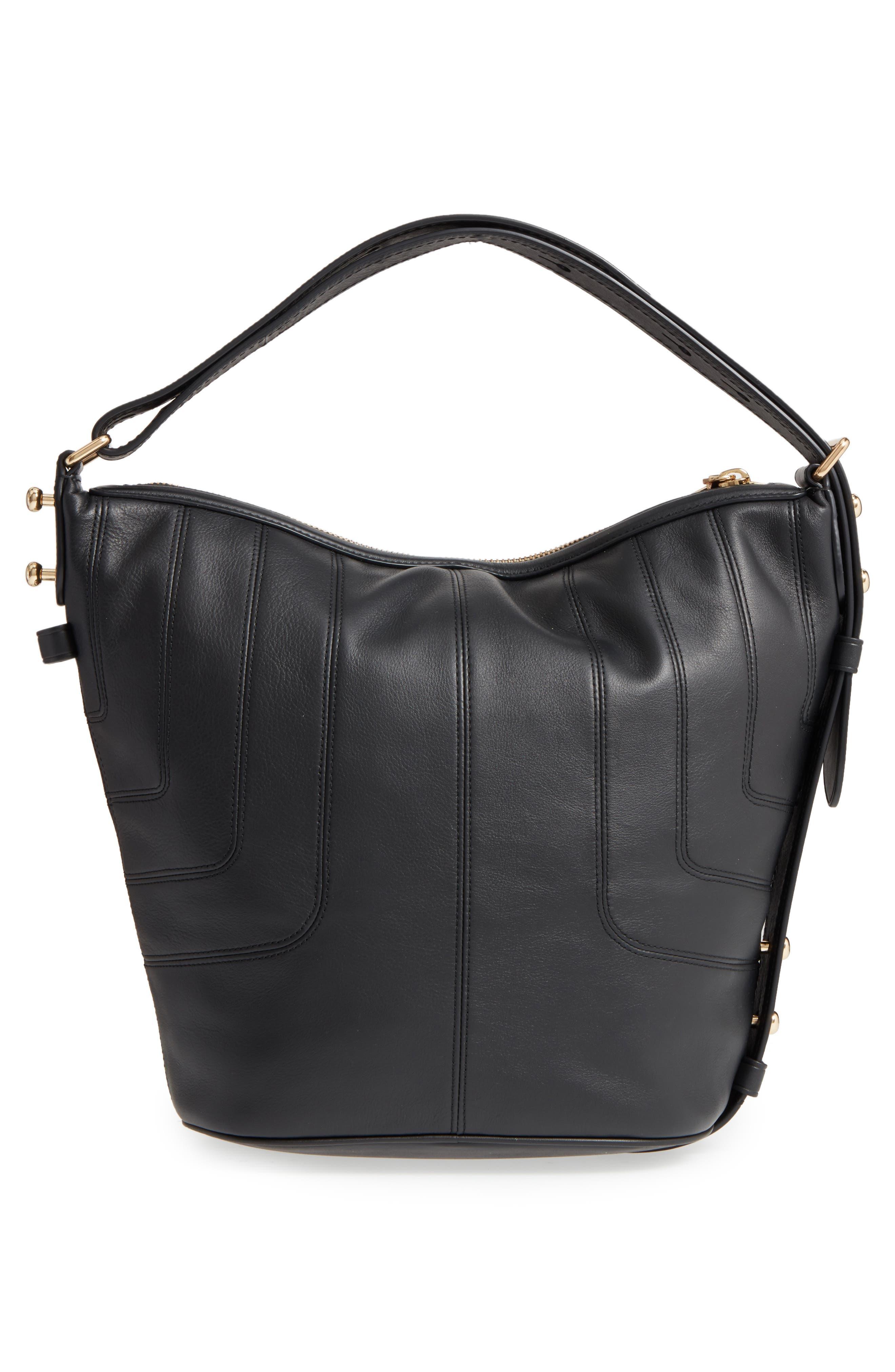 The Sling Mod Leather Hobo/Crossbody/Sling Bag,                             Alternate thumbnail 3, color,                             001