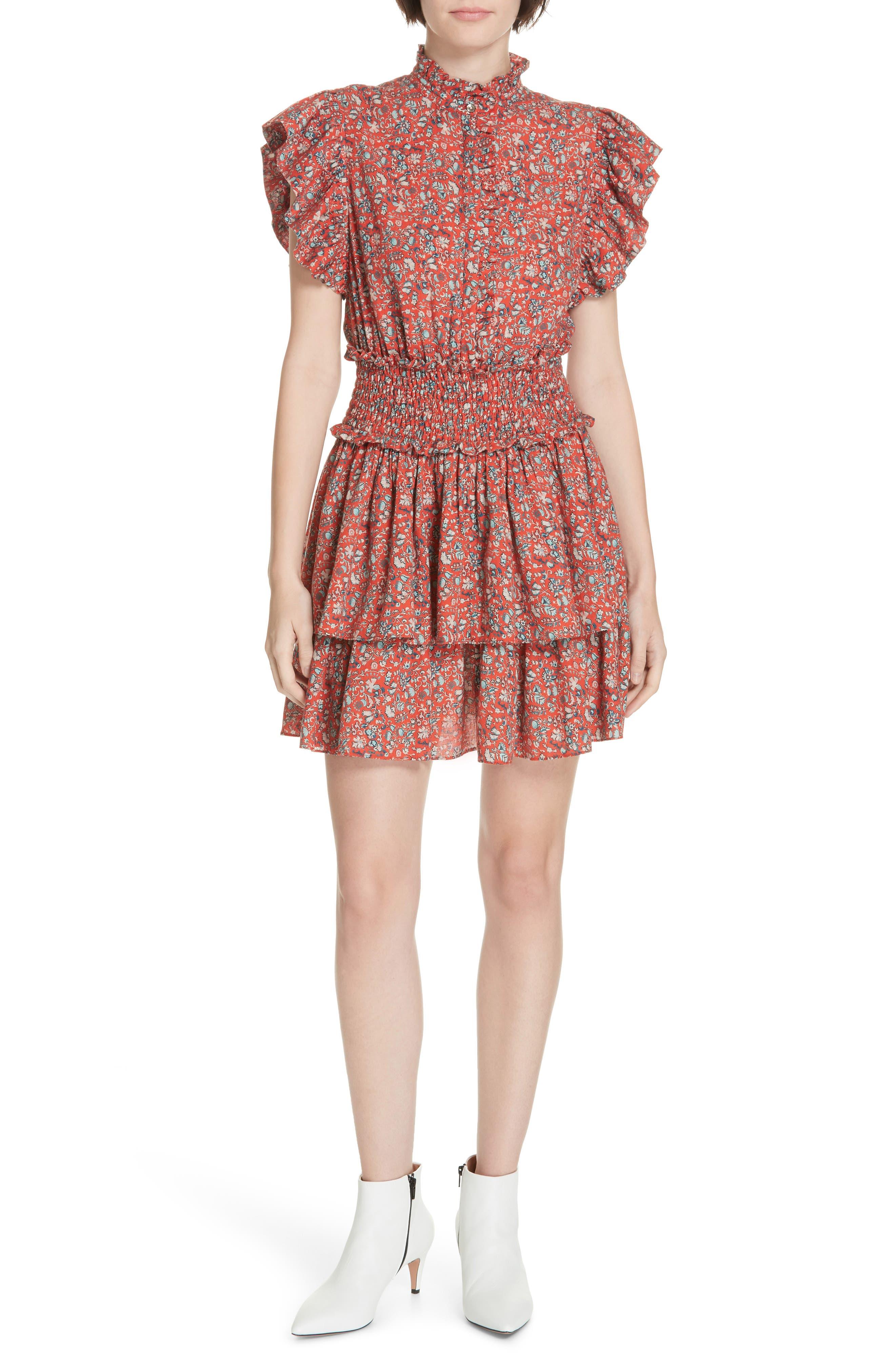 La Vie Rebecca Taylor Gitane Floral Minidress, Pink