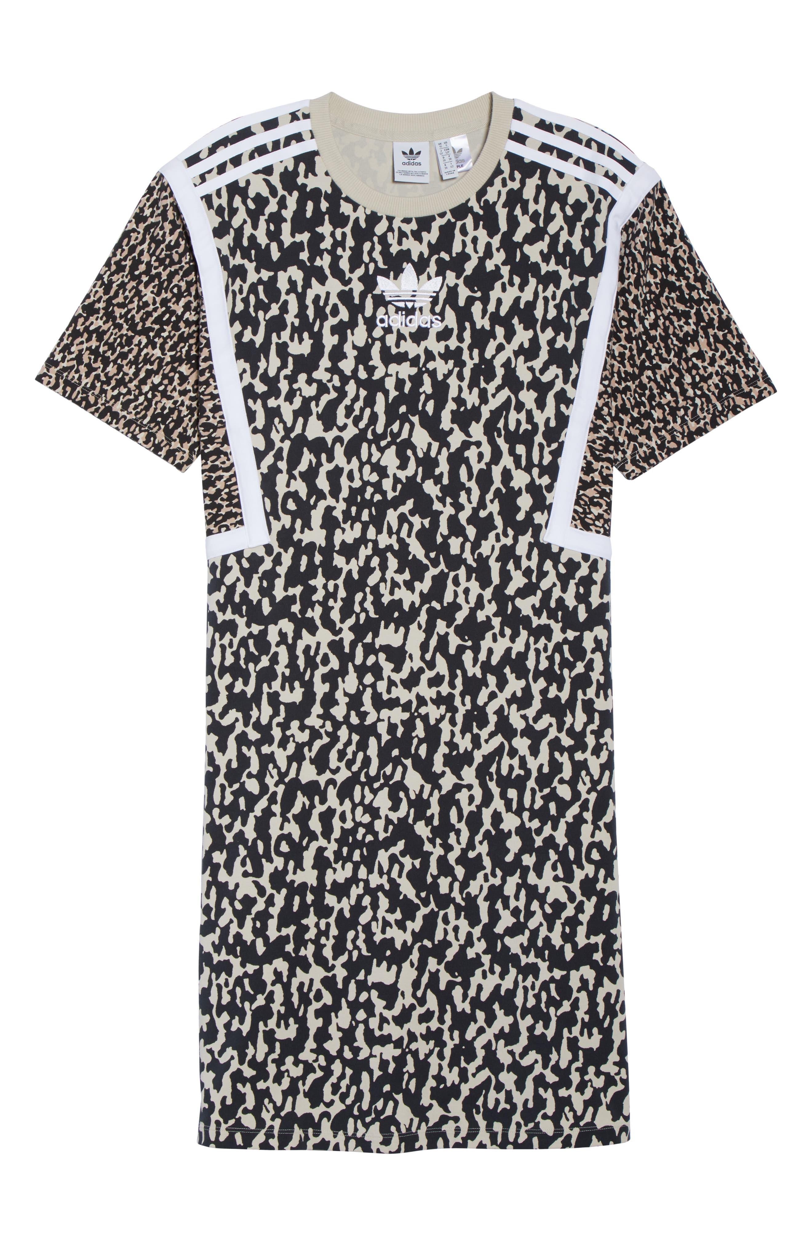 adidas Animal Print Shift Dress,                             Alternate thumbnail 7, color,                             250