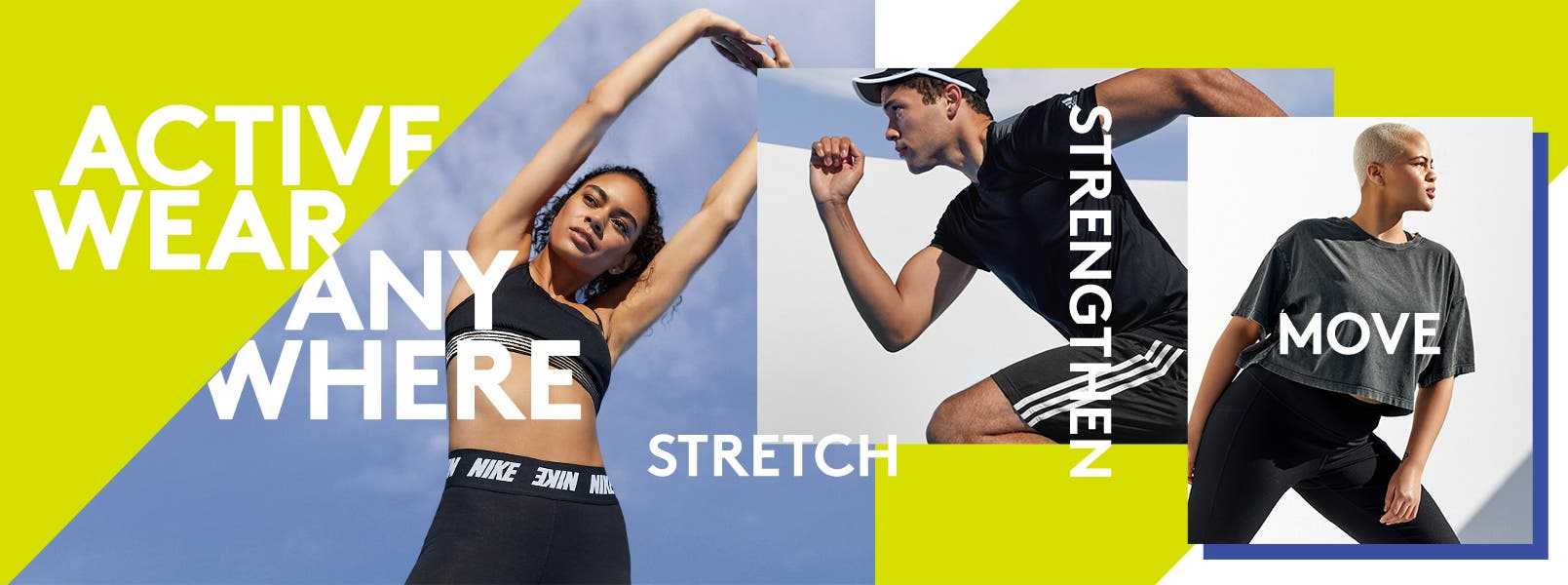Women and a man working out in activewear for anywhere.