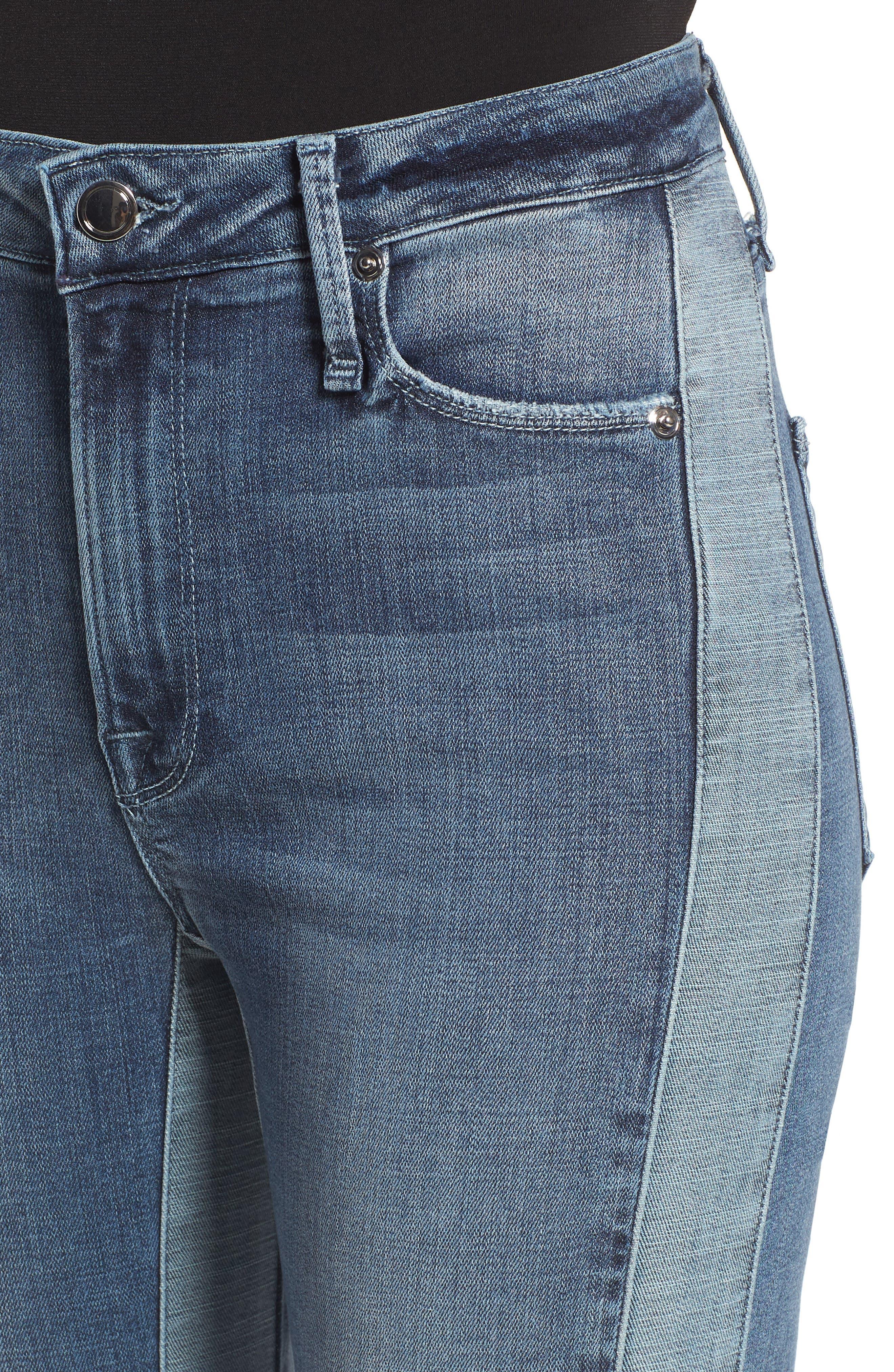 Good Waist Piecing High Waist Skinny Jeans,                             Alternate thumbnail 4, color,                             401
