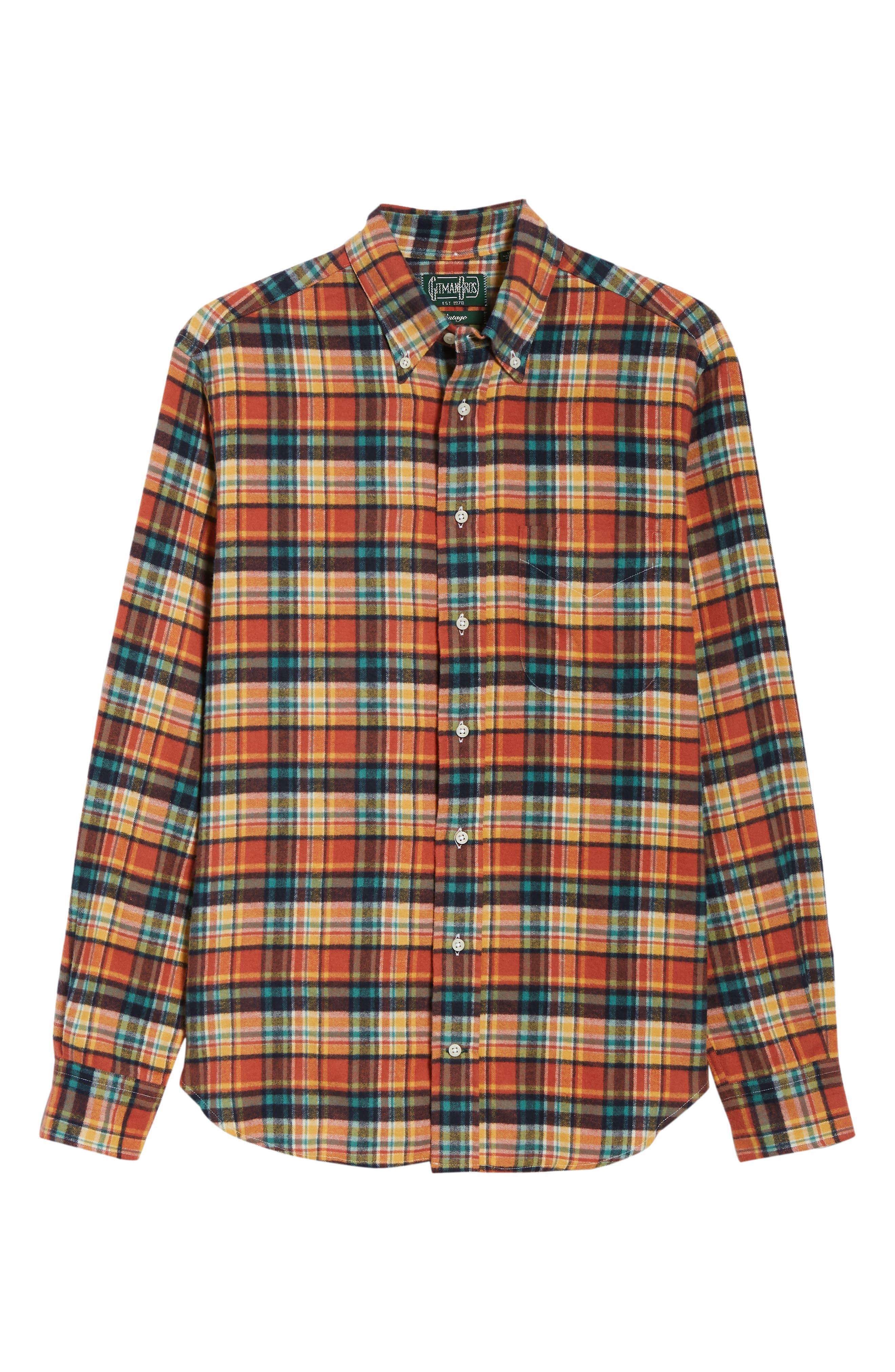 Regular Fit Flannel Shirt,                             Alternate thumbnail 5, color,                             800