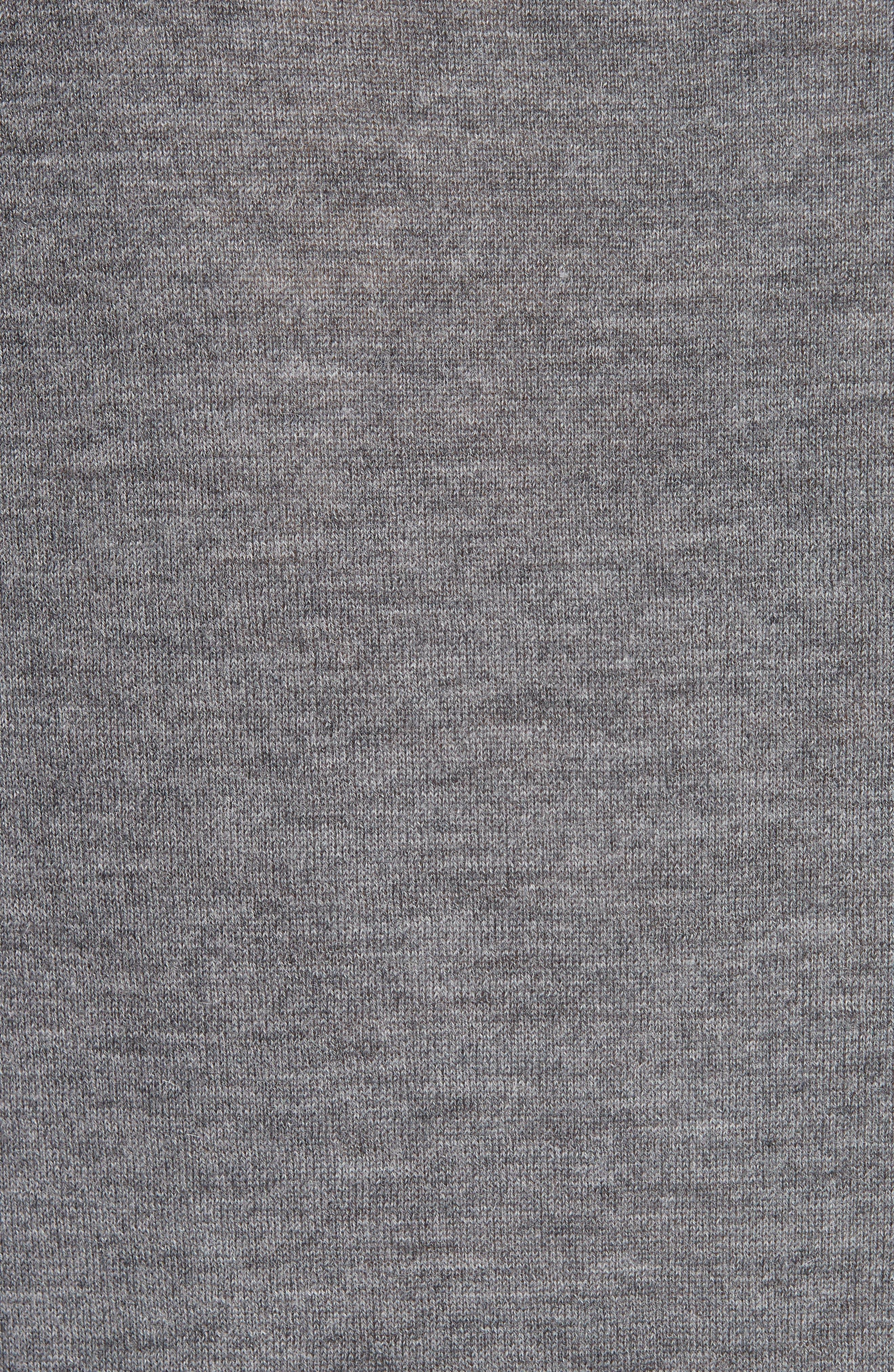 Essentials Tie Neck Cashmere Sweater,                             Alternate thumbnail 5, color,                             GREY