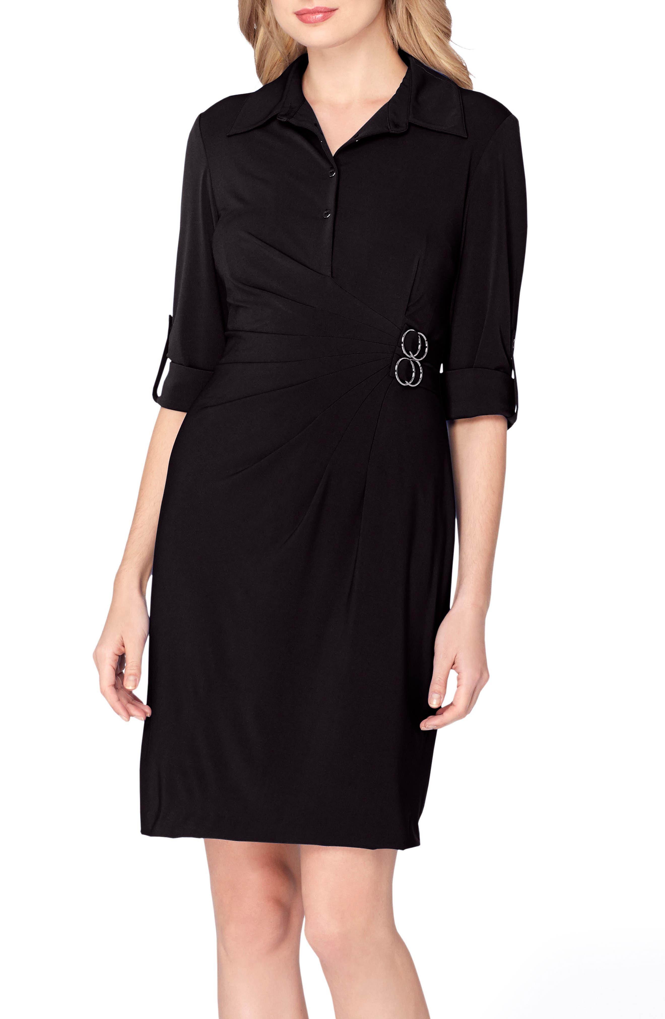 Jersey Wrap Shirtdress,                             Main thumbnail 1, color,