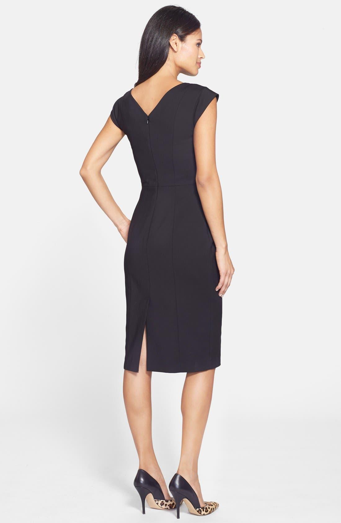 'Estelle' Cutout Cotton Blend Sheath Dress,                             Alternate thumbnail 3, color,