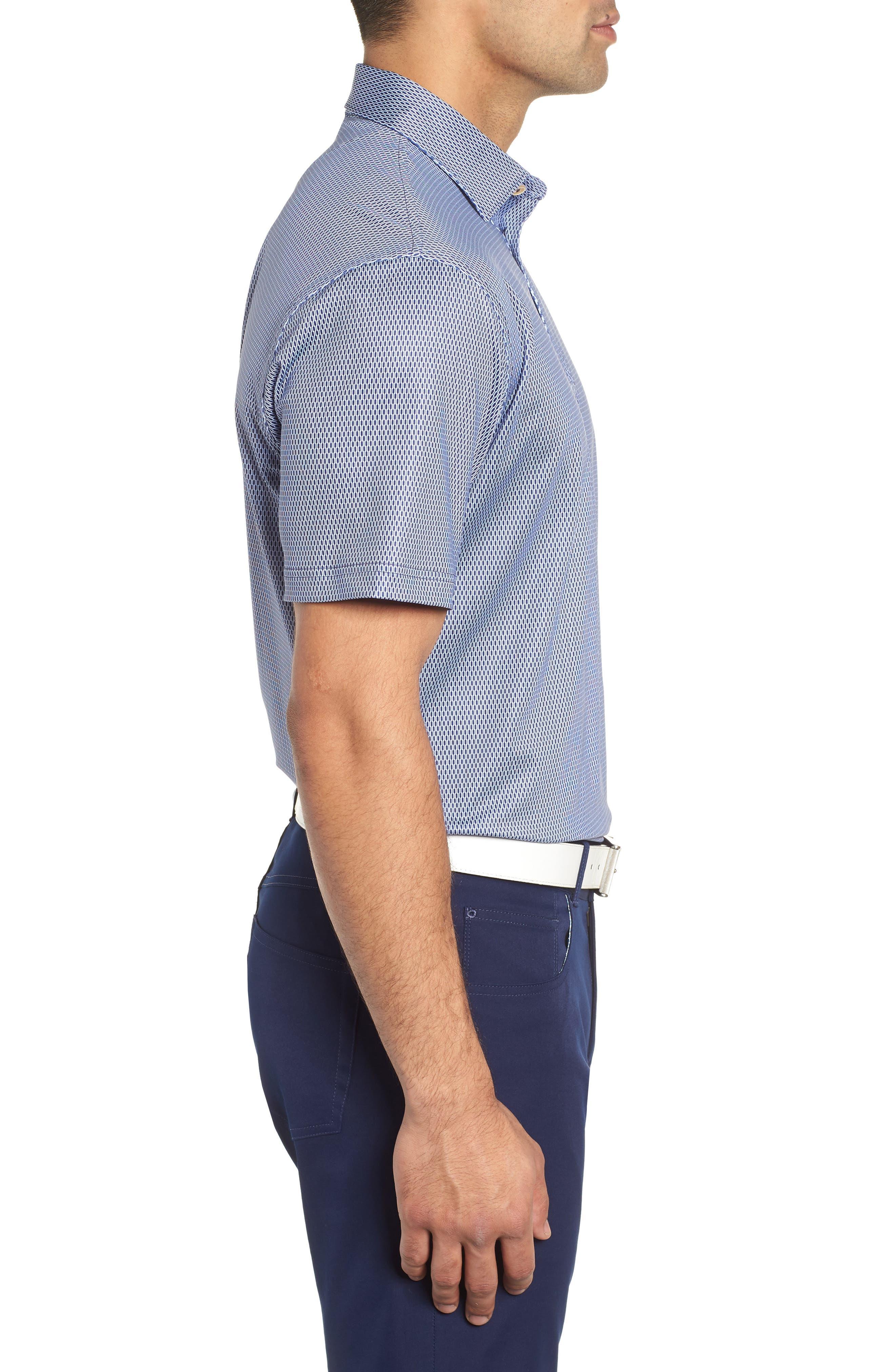Latimer Classic Fit Links Print Golf Polo,                             Alternate thumbnail 3, color,                             410