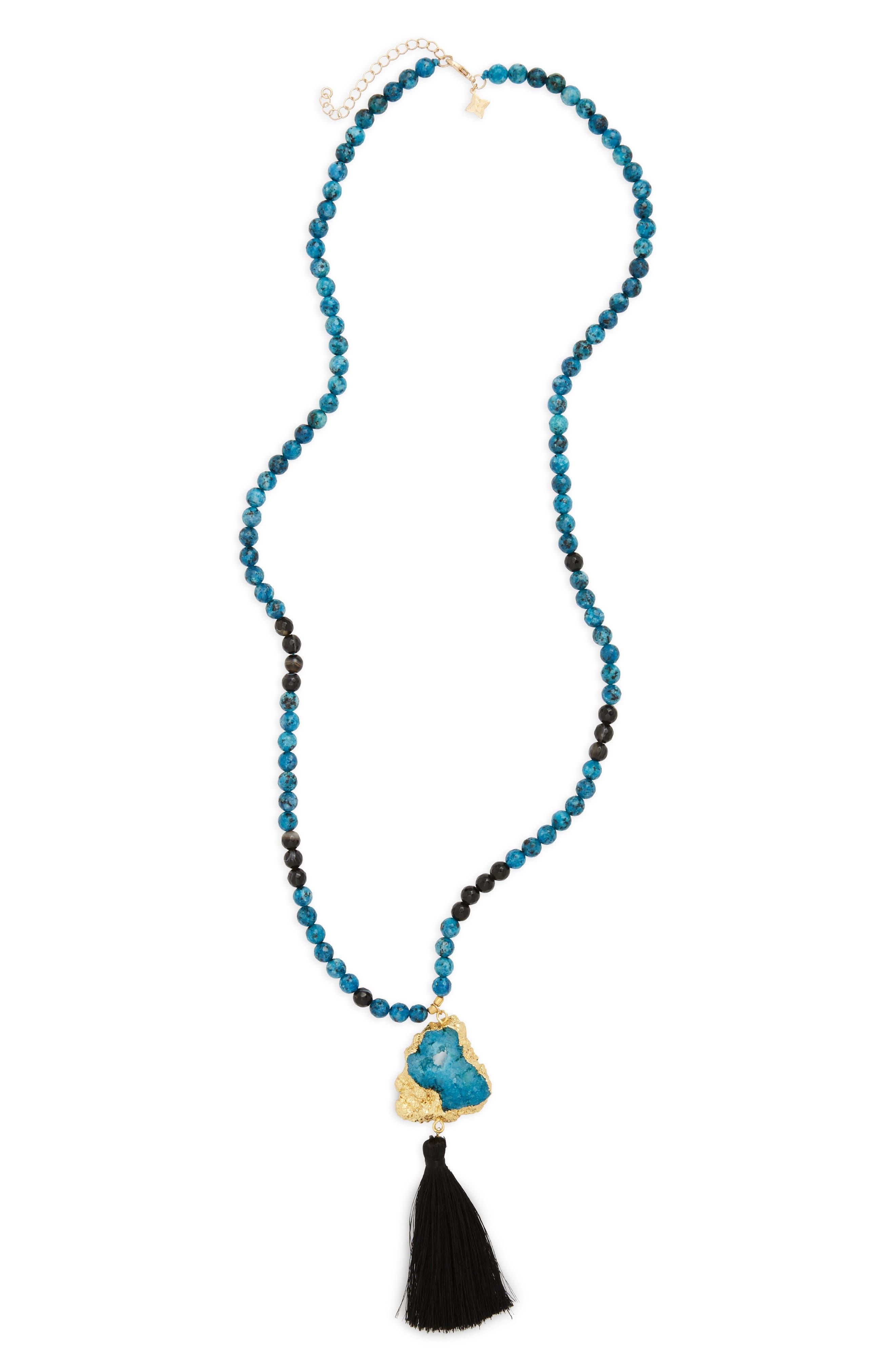 Tassel Pendant Necklace,                         Main,                         color, 930
