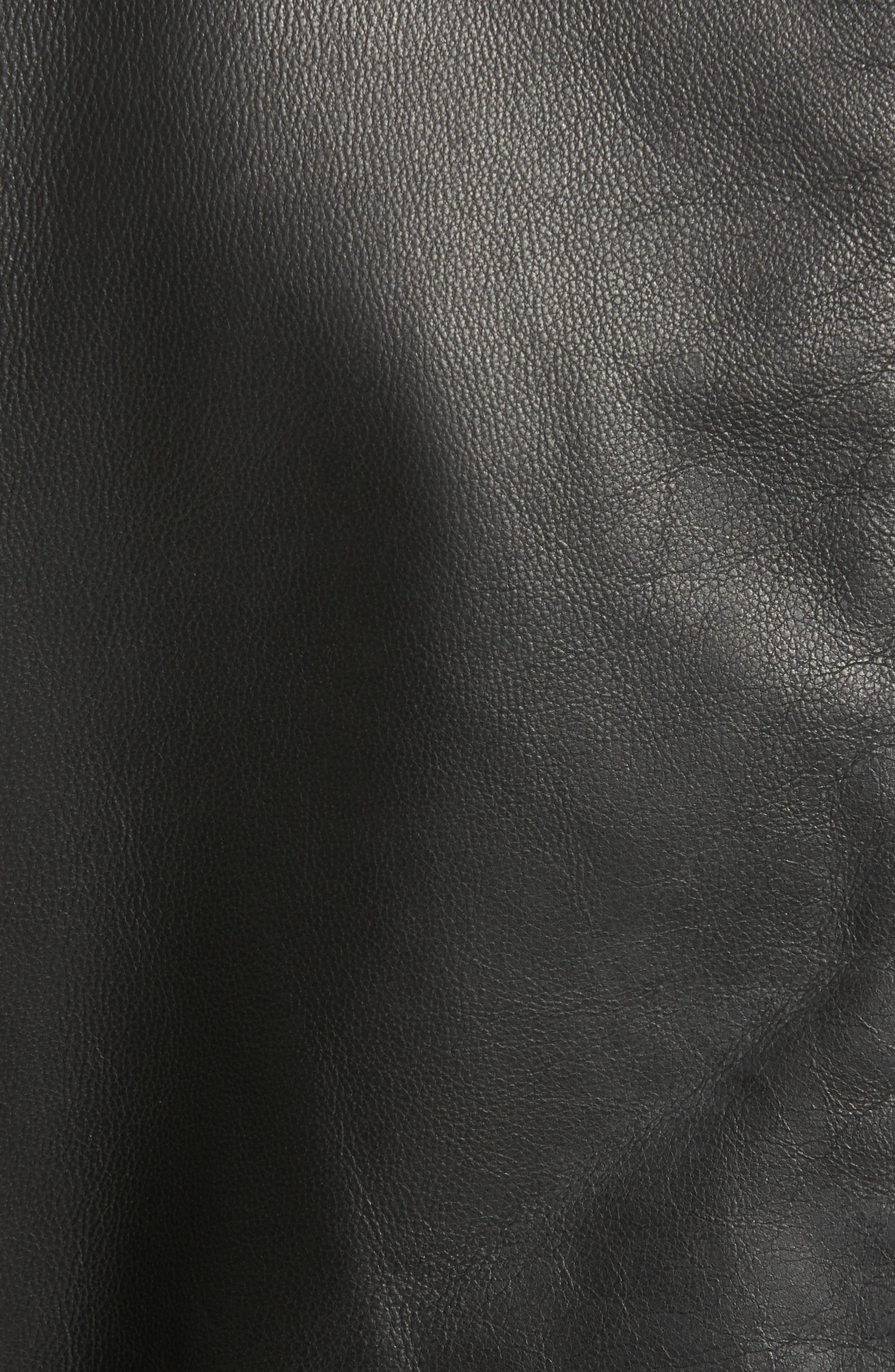 Carrack Leather Jacket,                             Alternate thumbnail 6, color,                             001