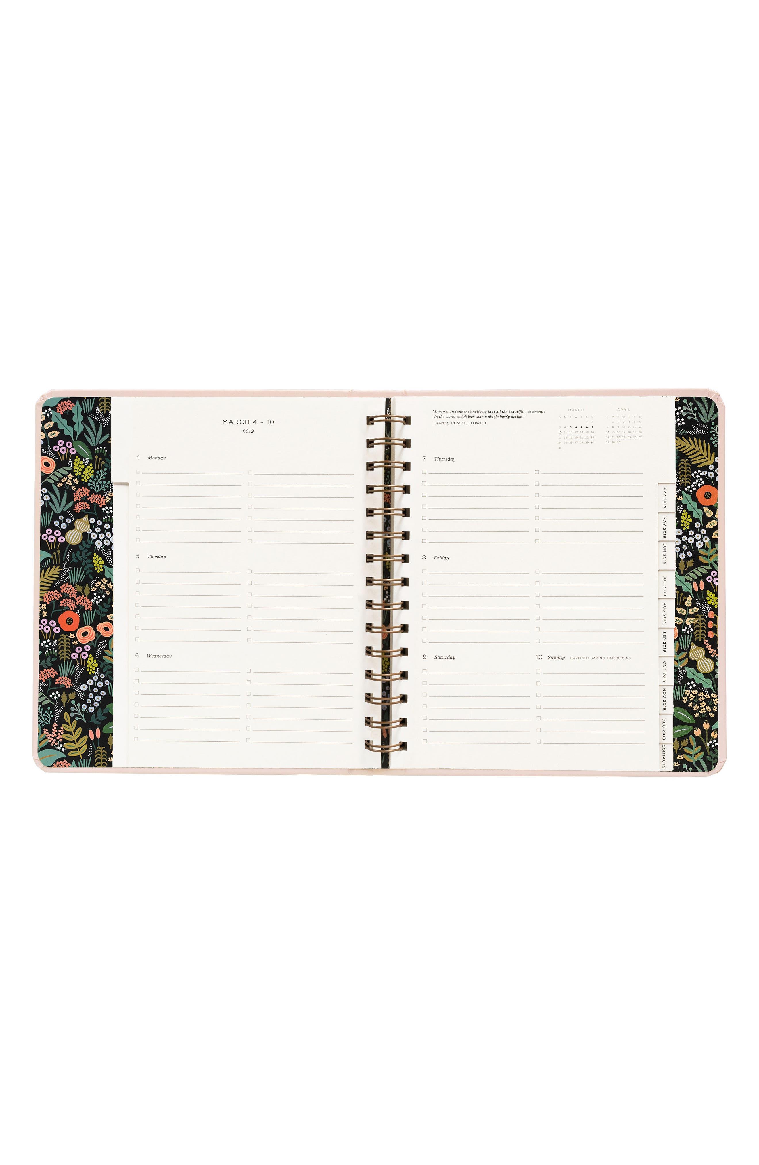 2019 Bouquet 17-Month Planner,                             Alternate thumbnail 9, color,                             PINK