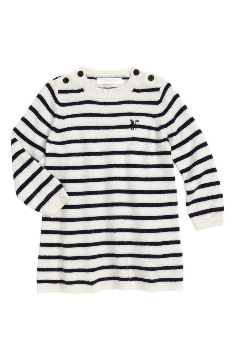 01a831716a45 Burberry Stripe Sweater Dress (Baby Girls)