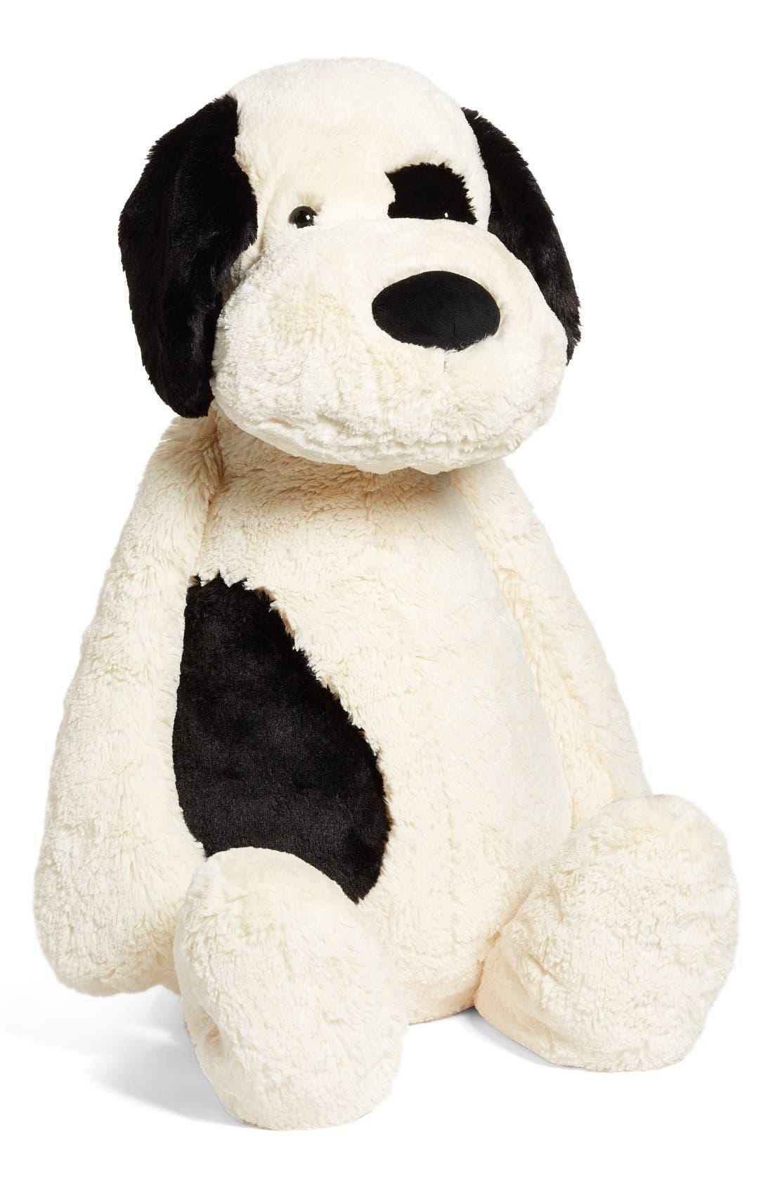 'Really Big Bashful Puppy' Stuffed Animal,                             Main thumbnail 1, color,                             IVORY/ BLACK