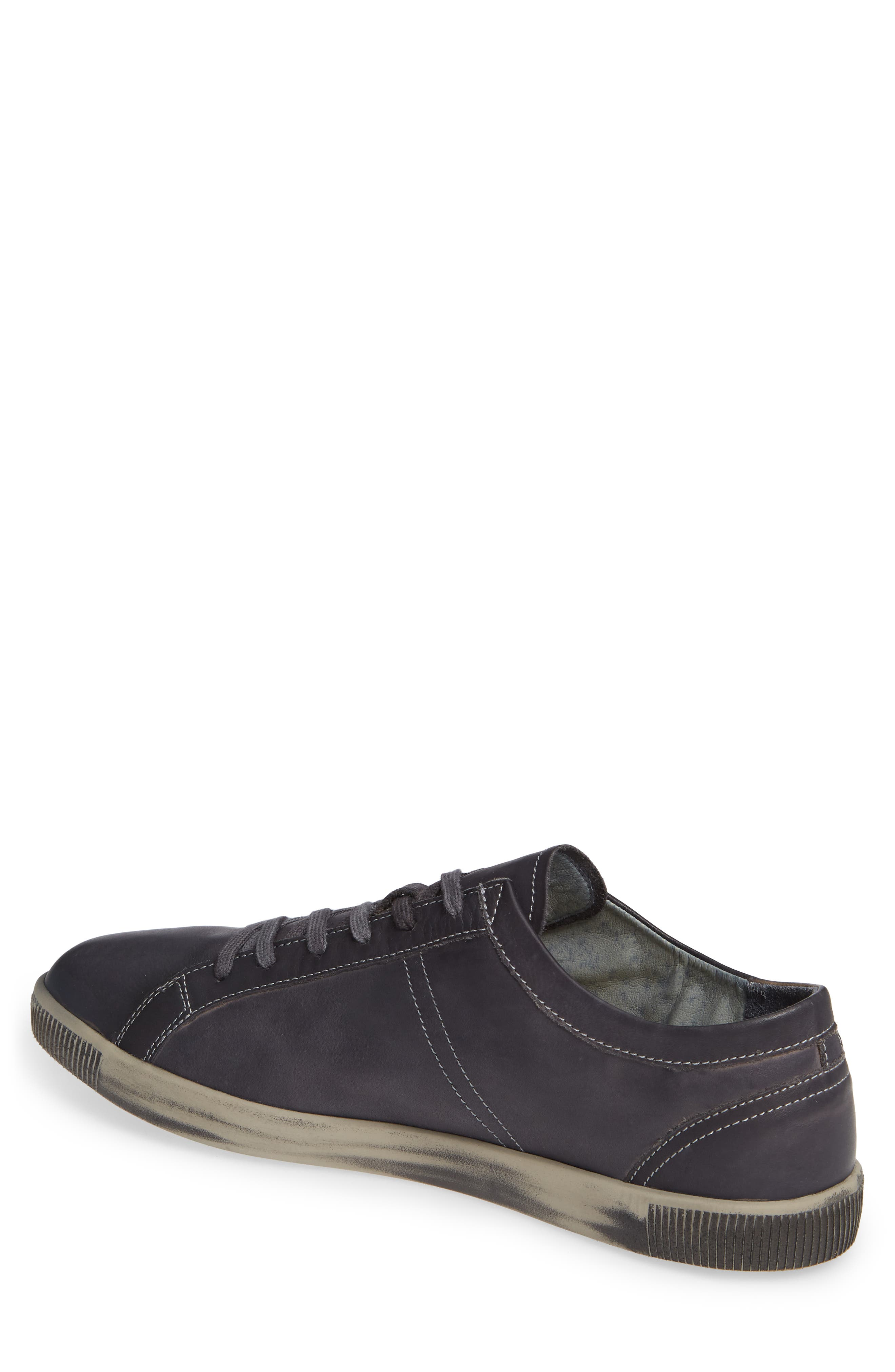 Tom Sneaker,                             Alternate thumbnail 2, color,                             ANTHRACITE WASHED LEATHER