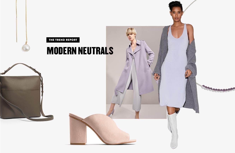 The Trend Report: modern neutrals.