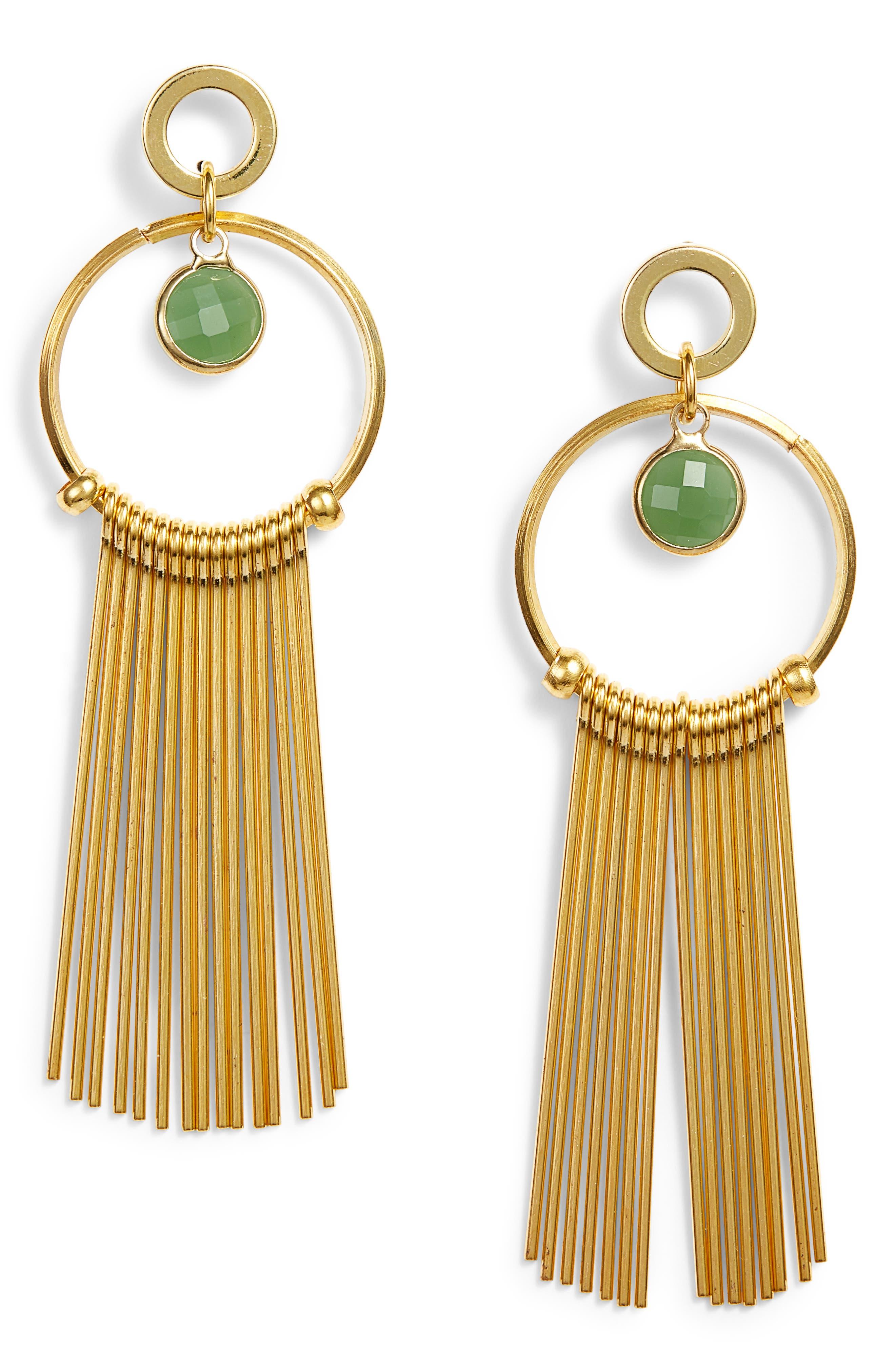 Lilia Spike & Crystal Hoop Earrings,                             Main thumbnail 2, color,