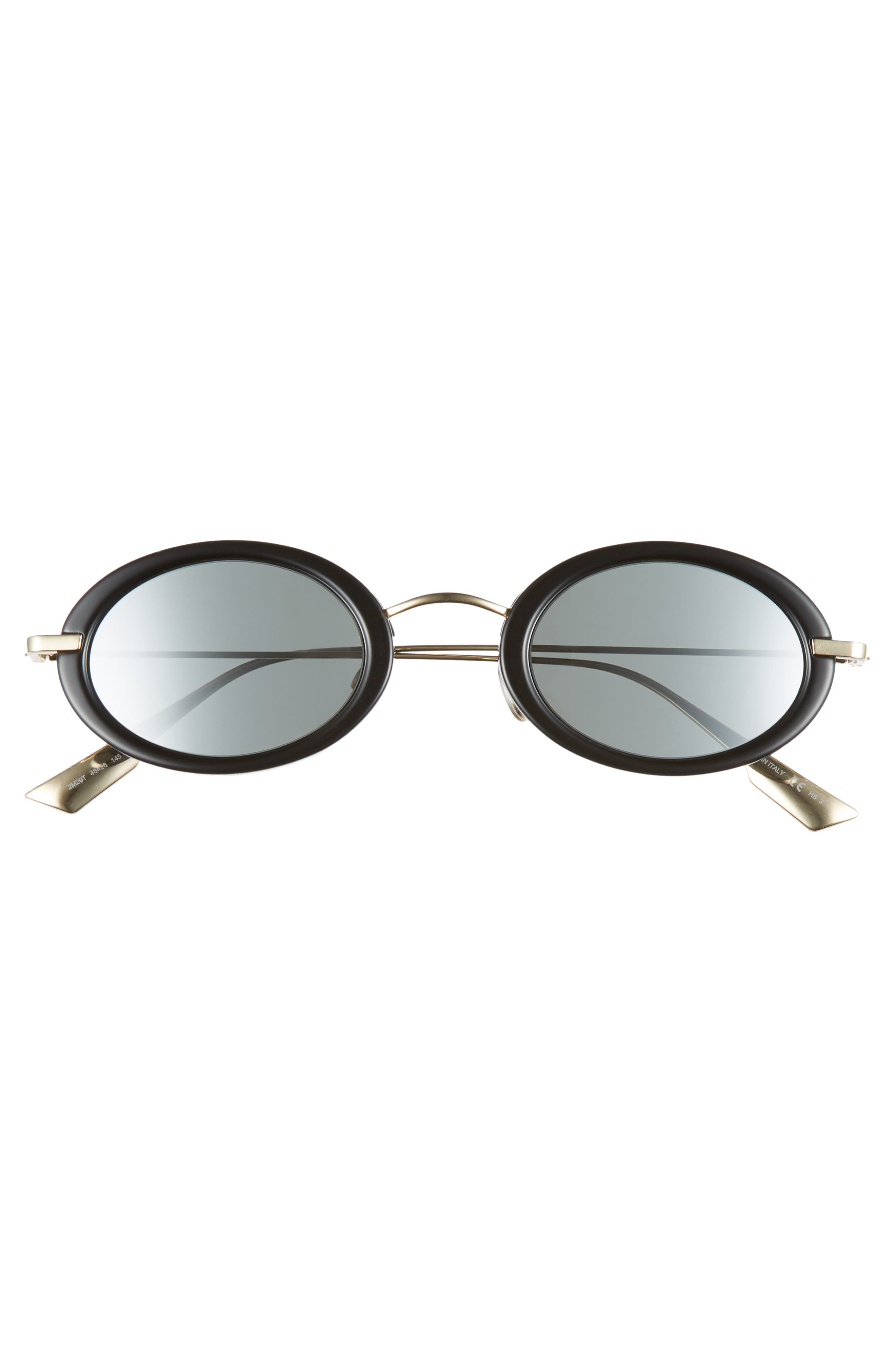 Christian Dior Hypnotic2 46mm Round Sunglasses,                             Alternate thumbnail 3, color,                             BLACK GOLD/ GREY SILVER