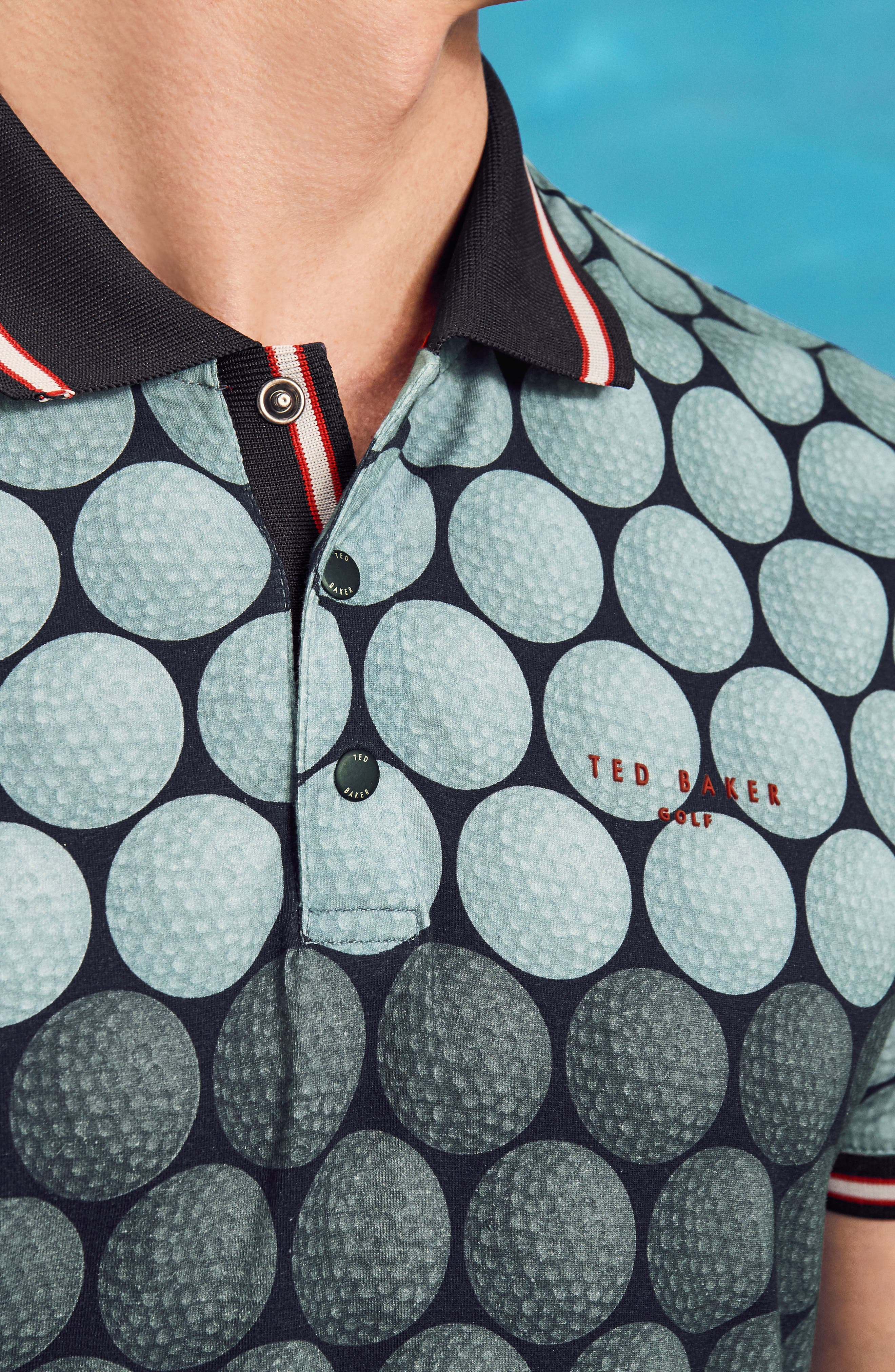 Birdy Print Golf Polo,                             Alternate thumbnail 7, color,                             030