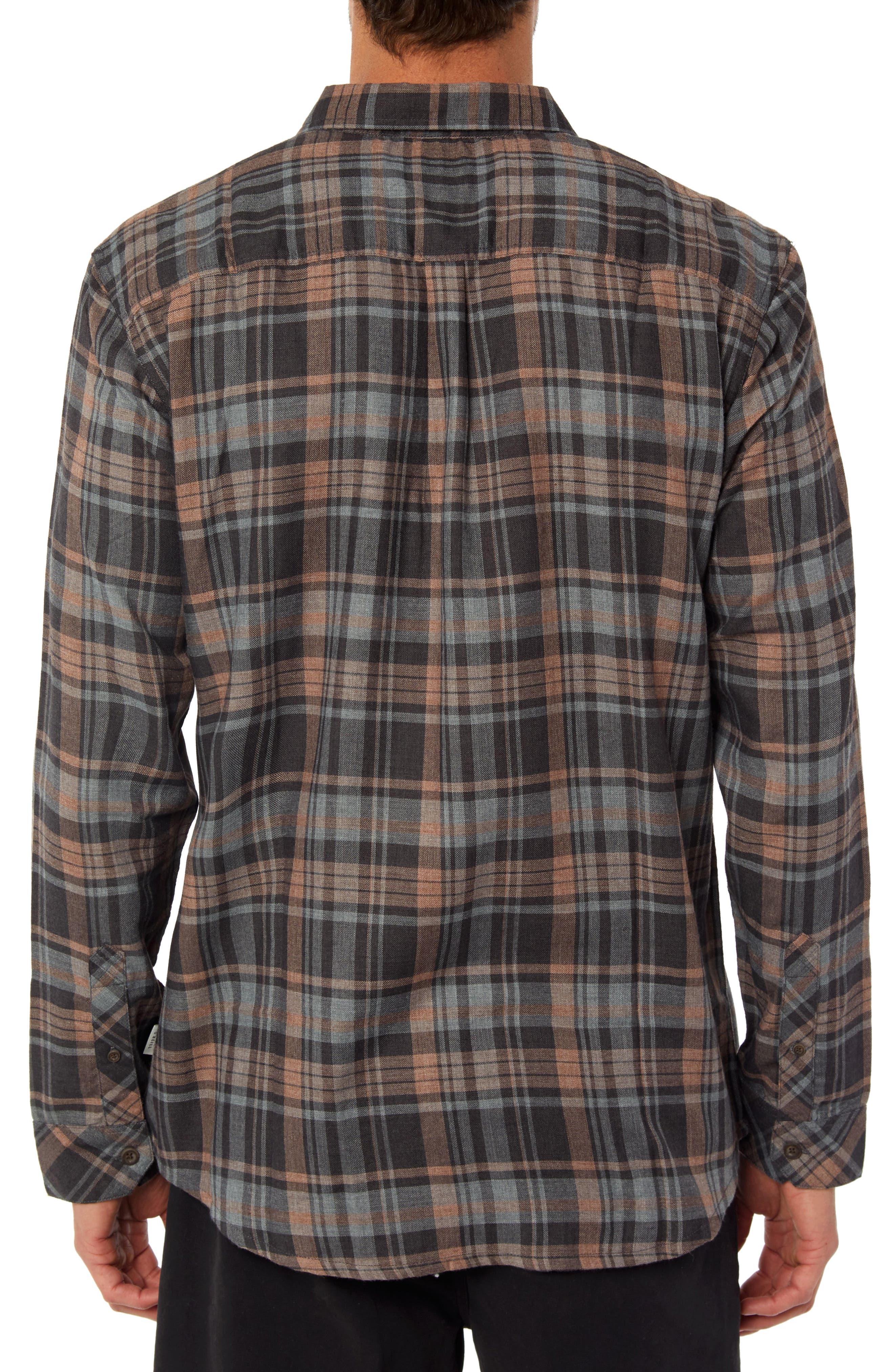 Shelter Plaid Flannel Shirt,                             Alternate thumbnail 2, color,                             RUST