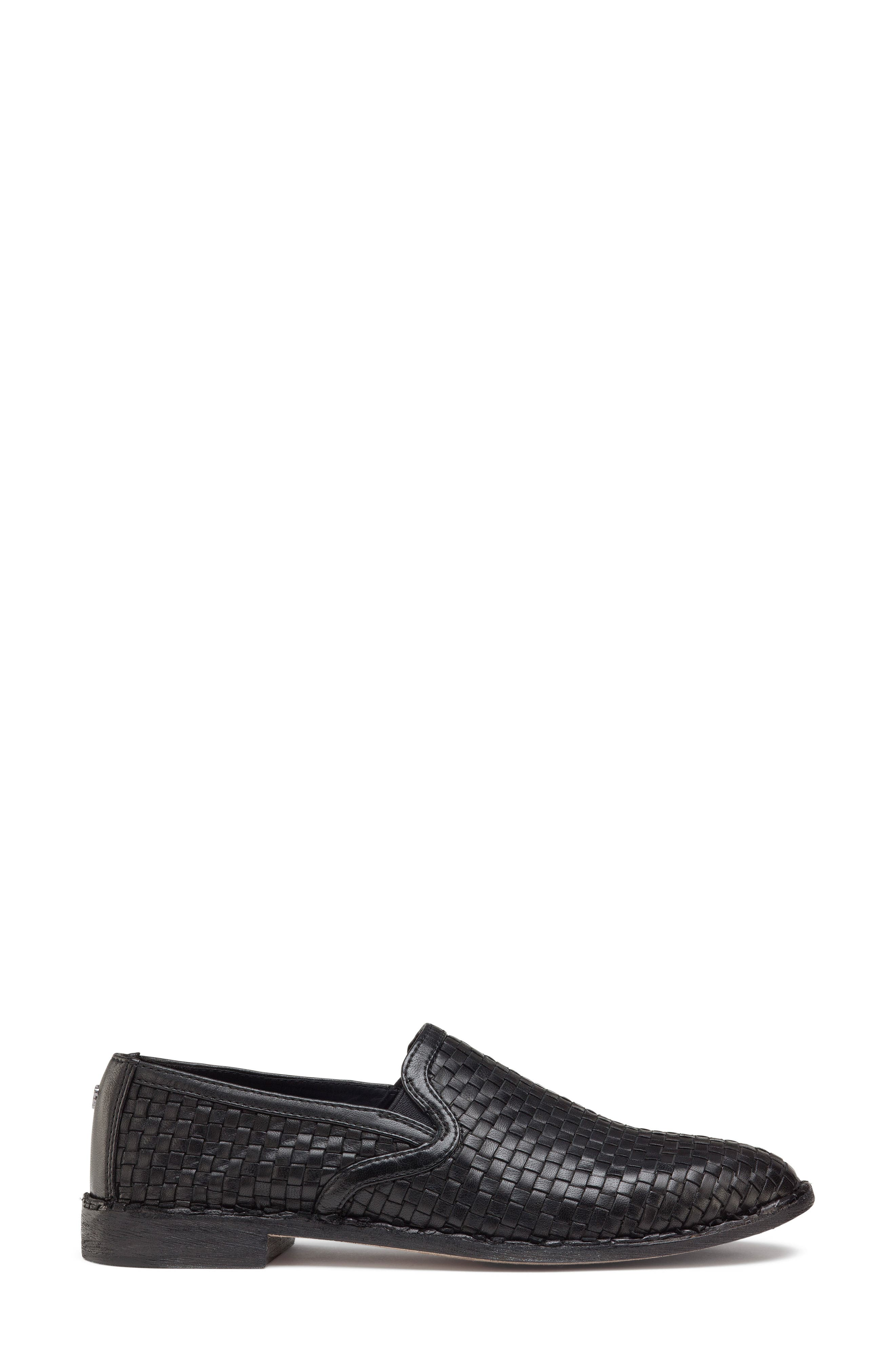 Amanda Woven Loafer,                             Alternate thumbnail 3, color,                             BLACK SUEDE