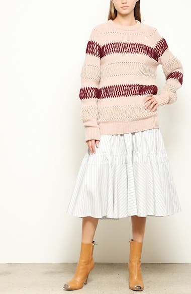 Embroidered Stripe Wool Sweater, video thumbnail