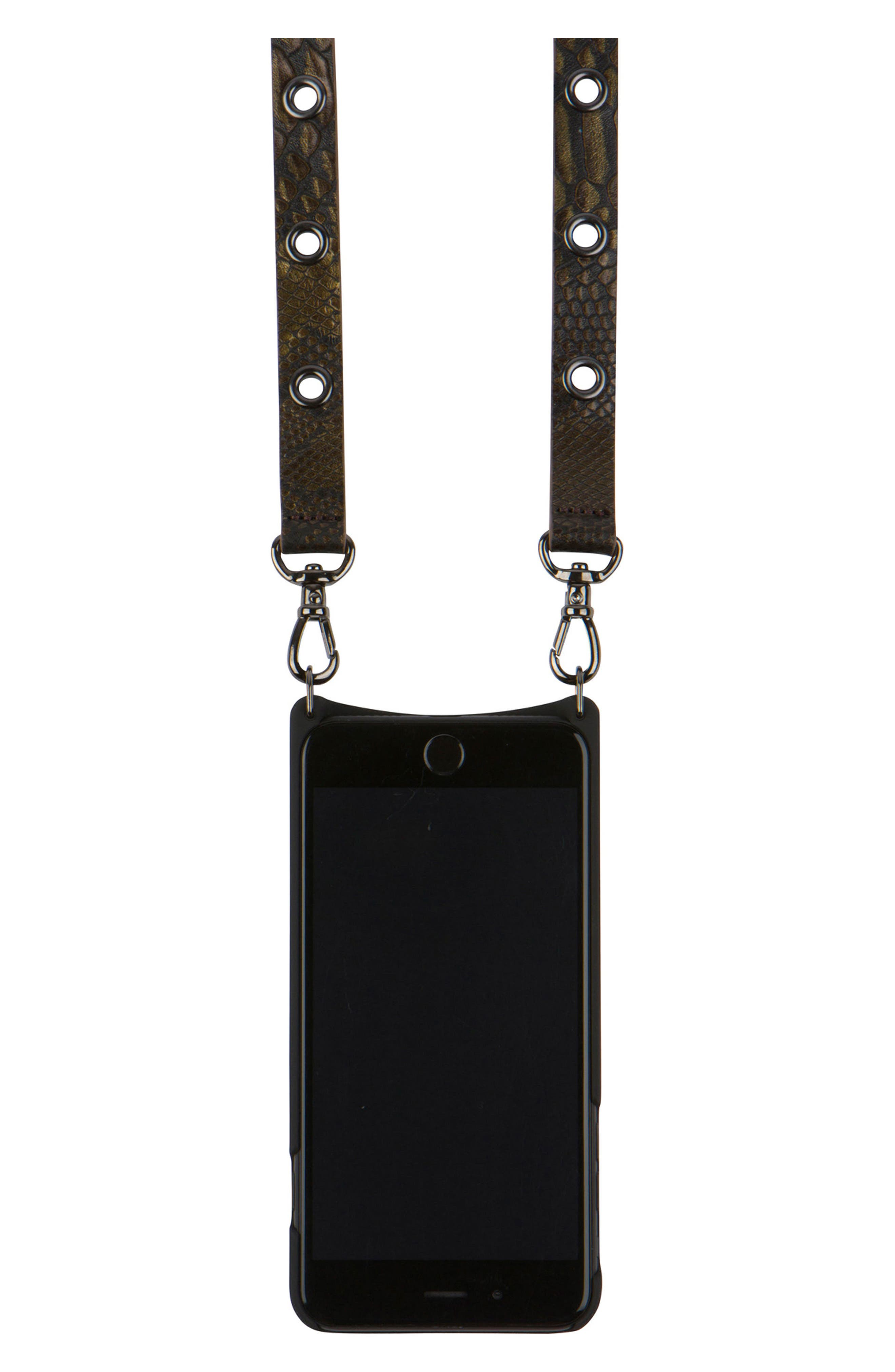 Roxanne Leather iPhone 6/7/8 & 6/7/8 Plus Crossbody Case,                             Alternate thumbnail 4, color,                             200