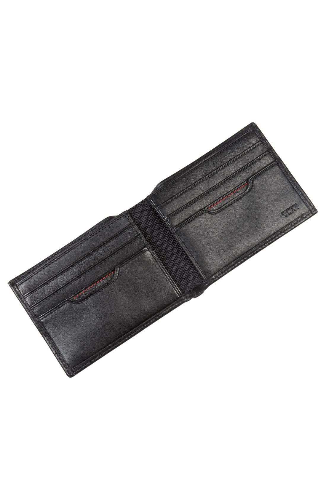 Delta Double ID Lock<sup>™</sup> Shielded Leather Wallet,                             Alternate thumbnail 5, color,                             BLACK