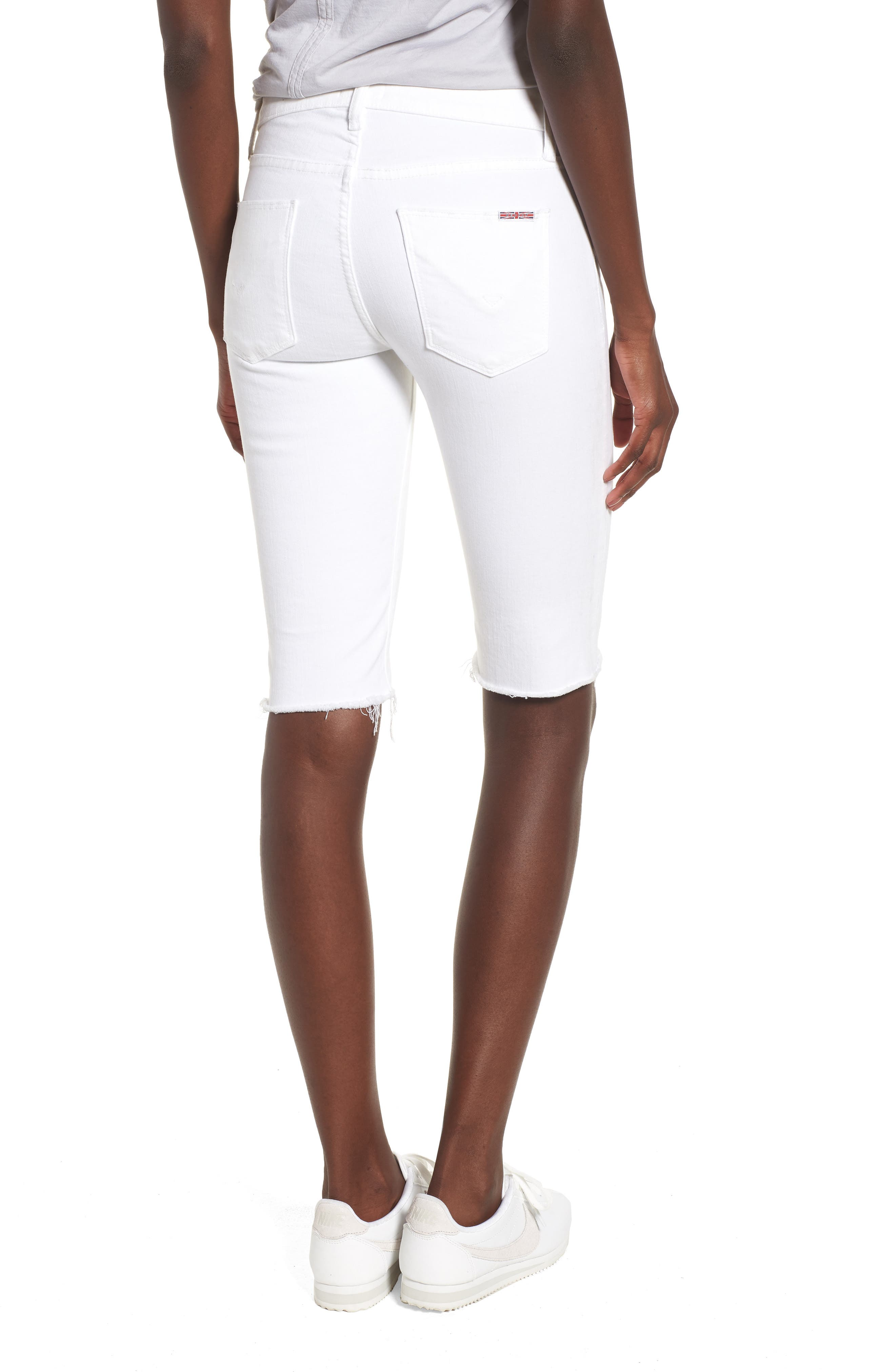 Amelia Cutoff Knee Shorts,                             Alternate thumbnail 2, color,                             OPTICAL WHITE
