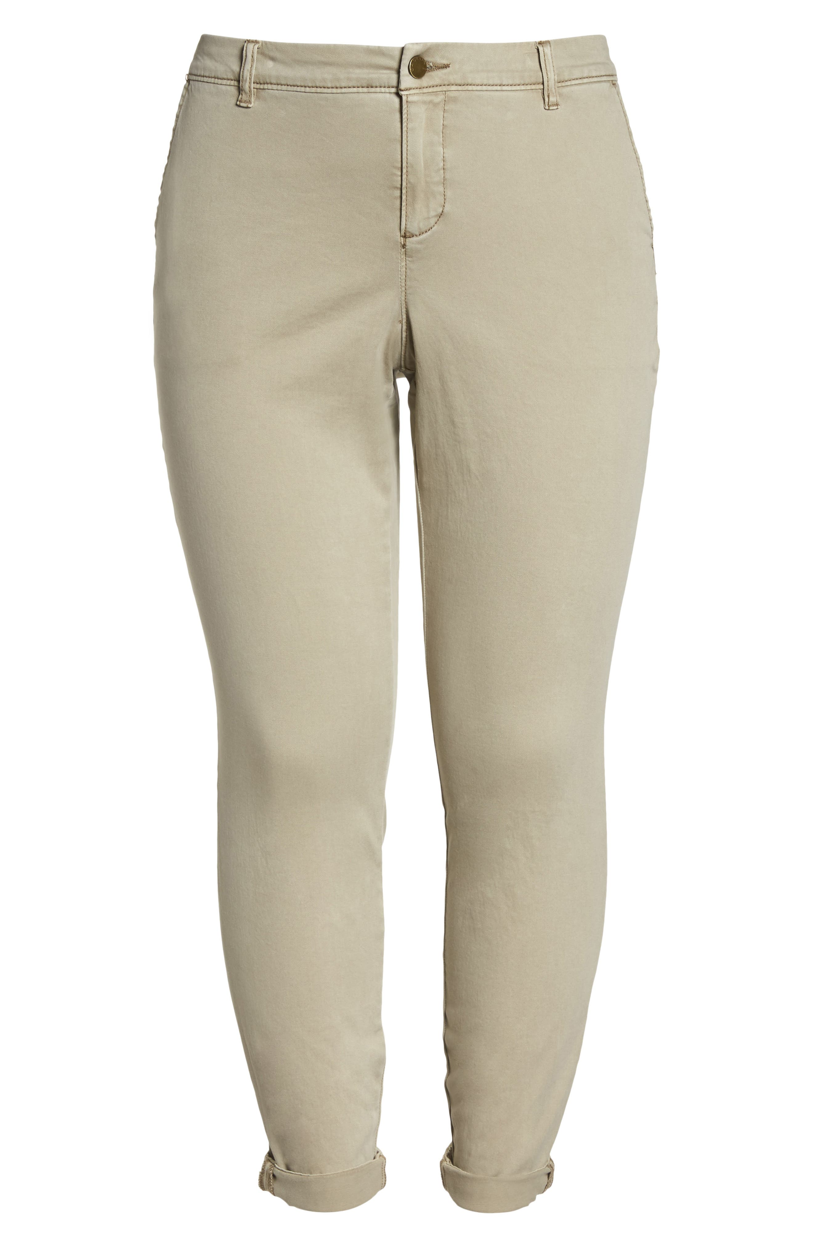 CASLON<SUP>®</SUP>,                             Boyfriend Stretch Cotton Chino Pants,                             Alternate thumbnail 7, color,                             TAN COBBLESTONE