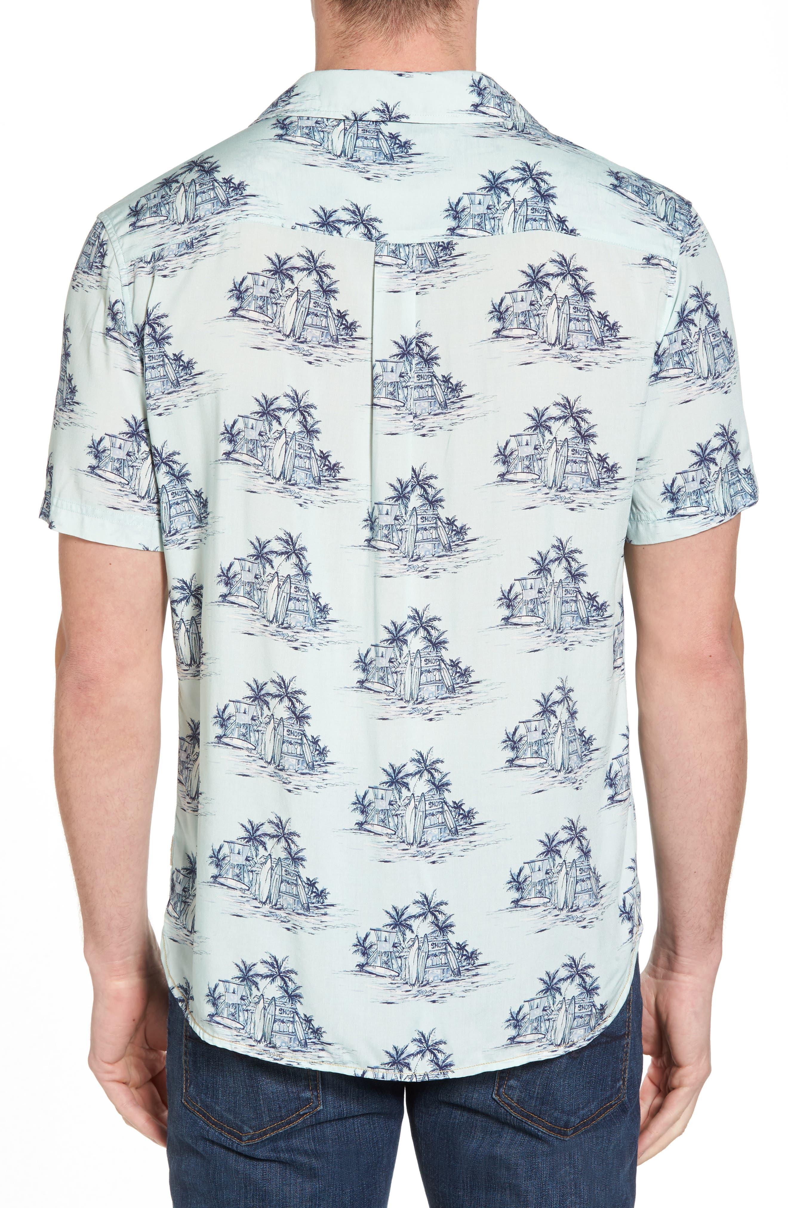 Tonal Hawaiian Print Camp Shirt,                             Alternate thumbnail 2, color,                             100