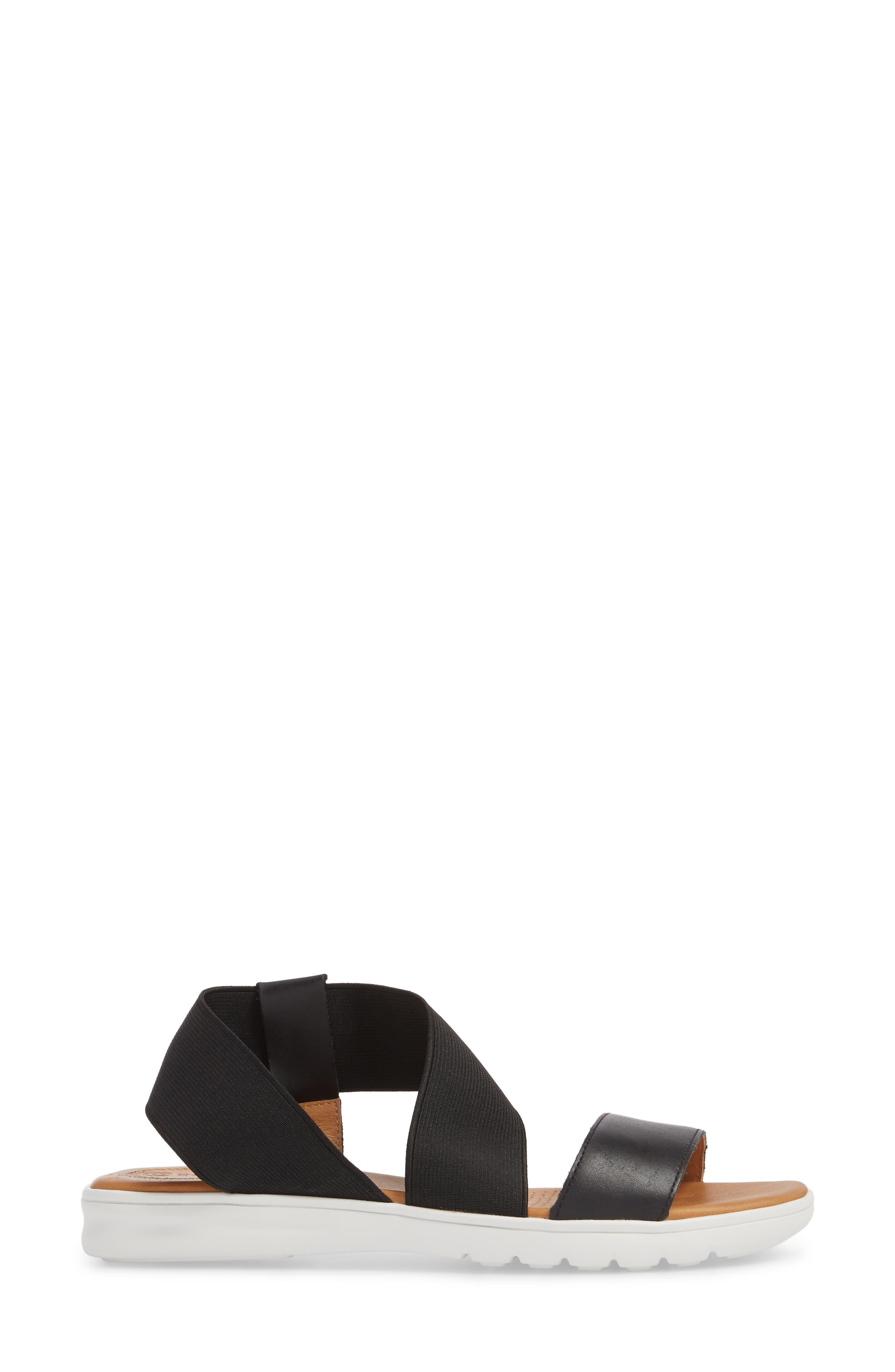 Tanyah Sandal,                             Alternate thumbnail 3, color,                             BLACK LEATHER