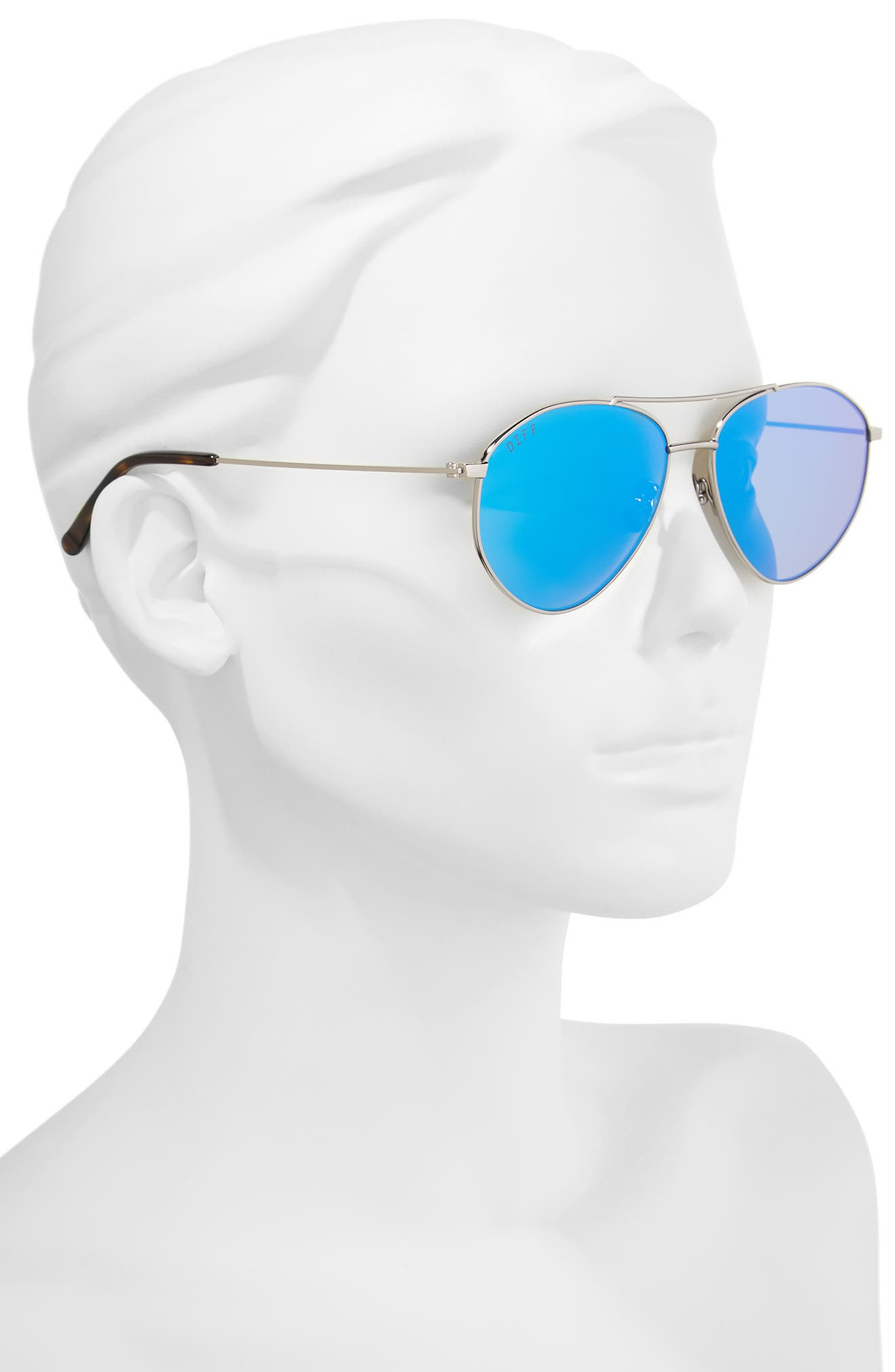 Scout 53mm Aviator Sunglasses,                             Alternate thumbnail 2, color,                             LIGHT GUNMETAL/ ICE BLUE