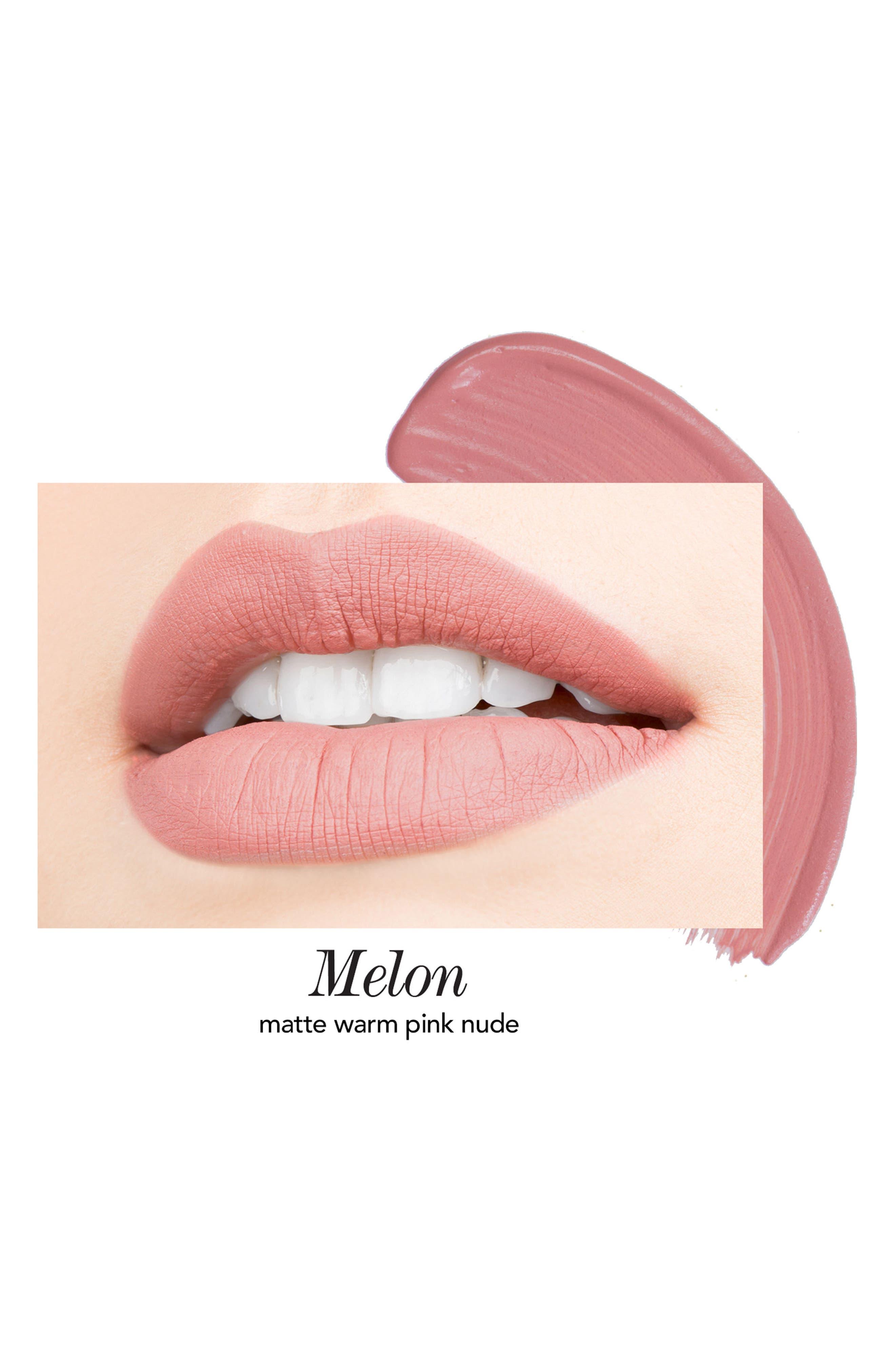 Melon & Citronade Rose Long-Wear Lip Crème Liquid Lipstick Duo,                             Alternate thumbnail 4, color,