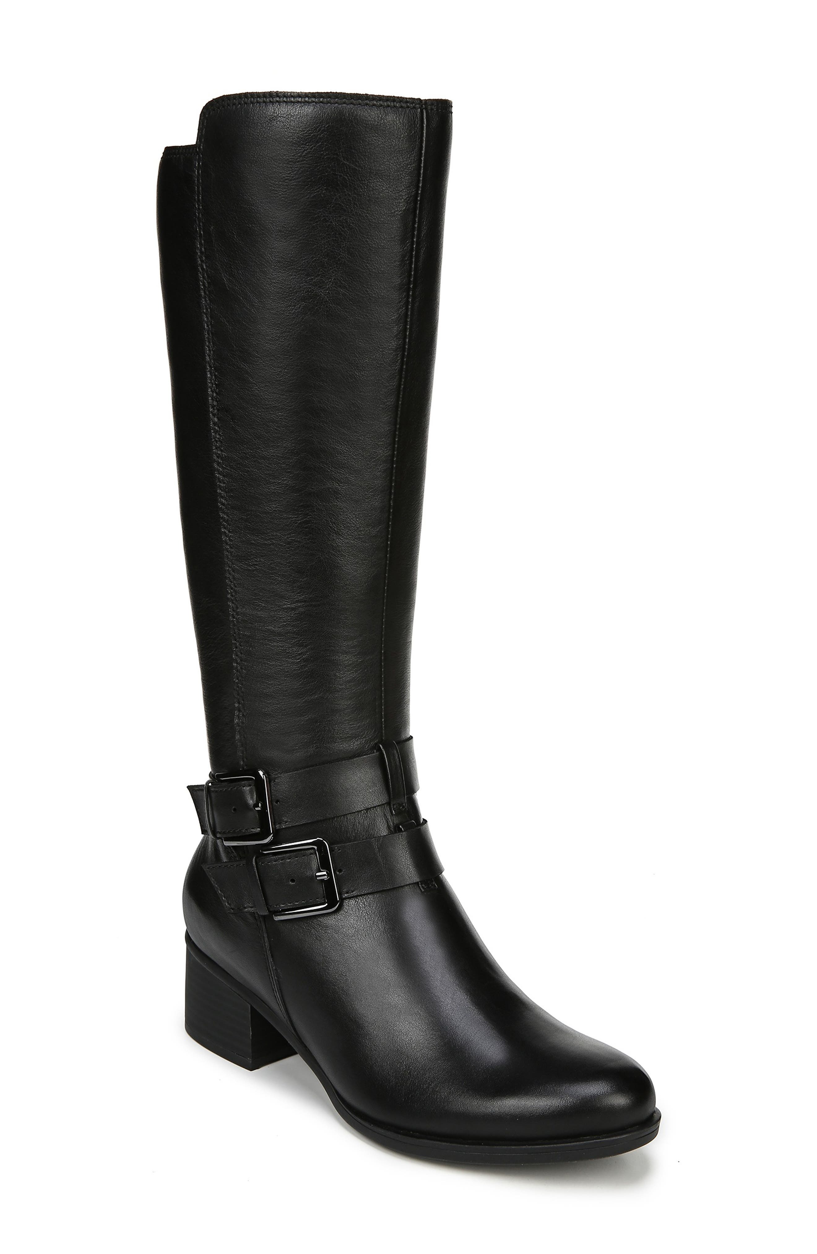 Naturalizer Dale Knee High Boot, Regular Calf- Black