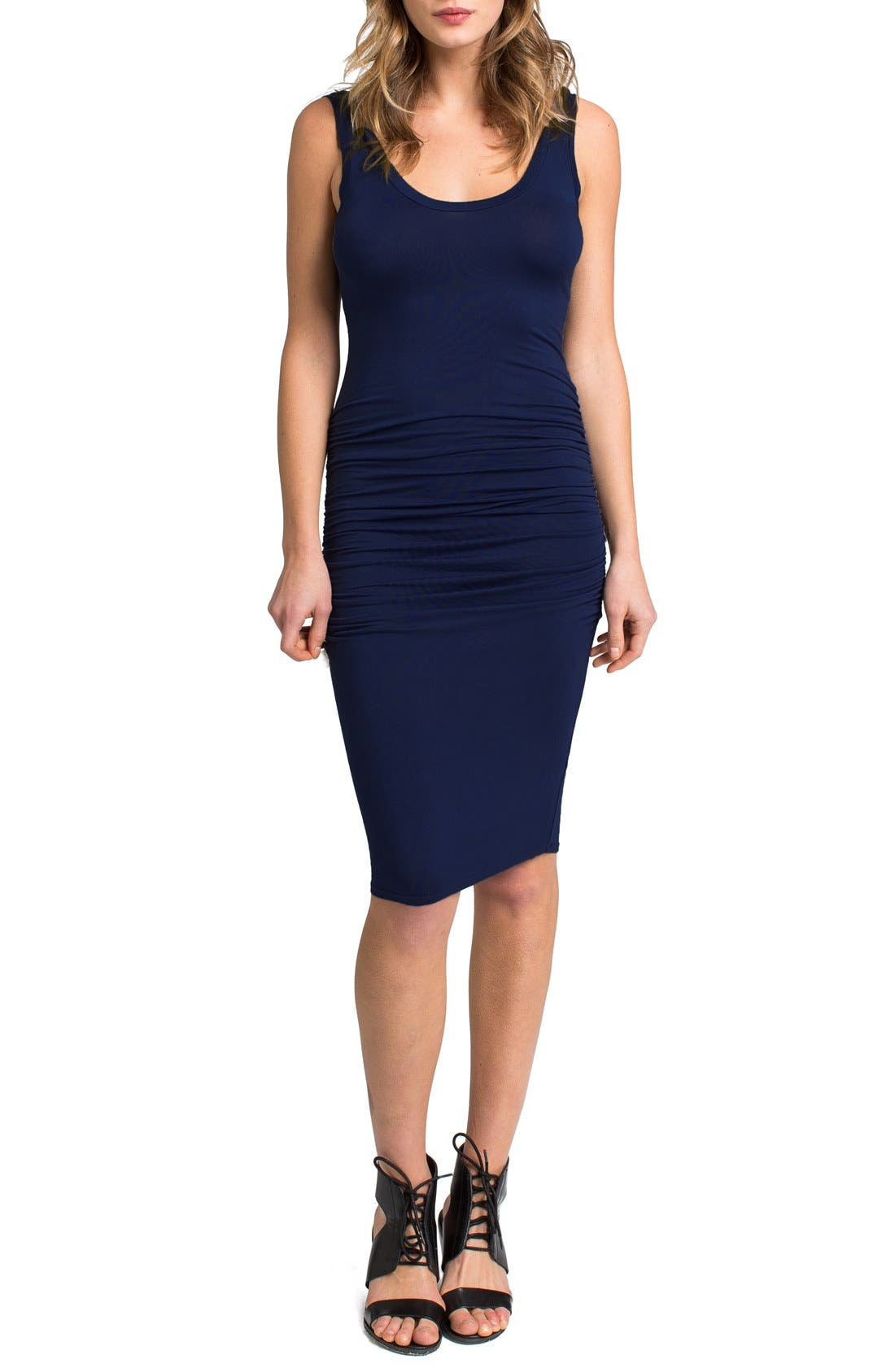'Frankie' Ruched Tank Dress,                             Main thumbnail 5, color,