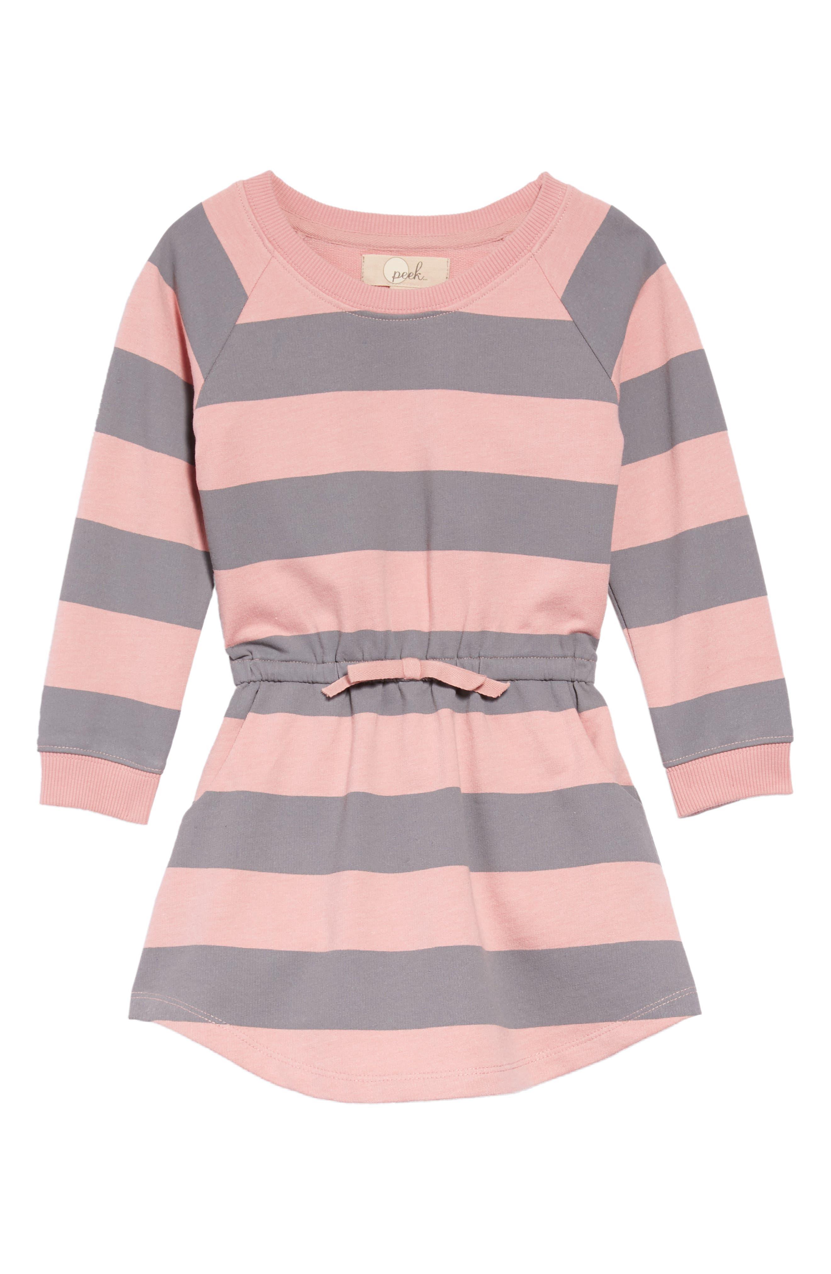 Ruby Sweatshirt Dress,                             Main thumbnail 1, color,                             PINK