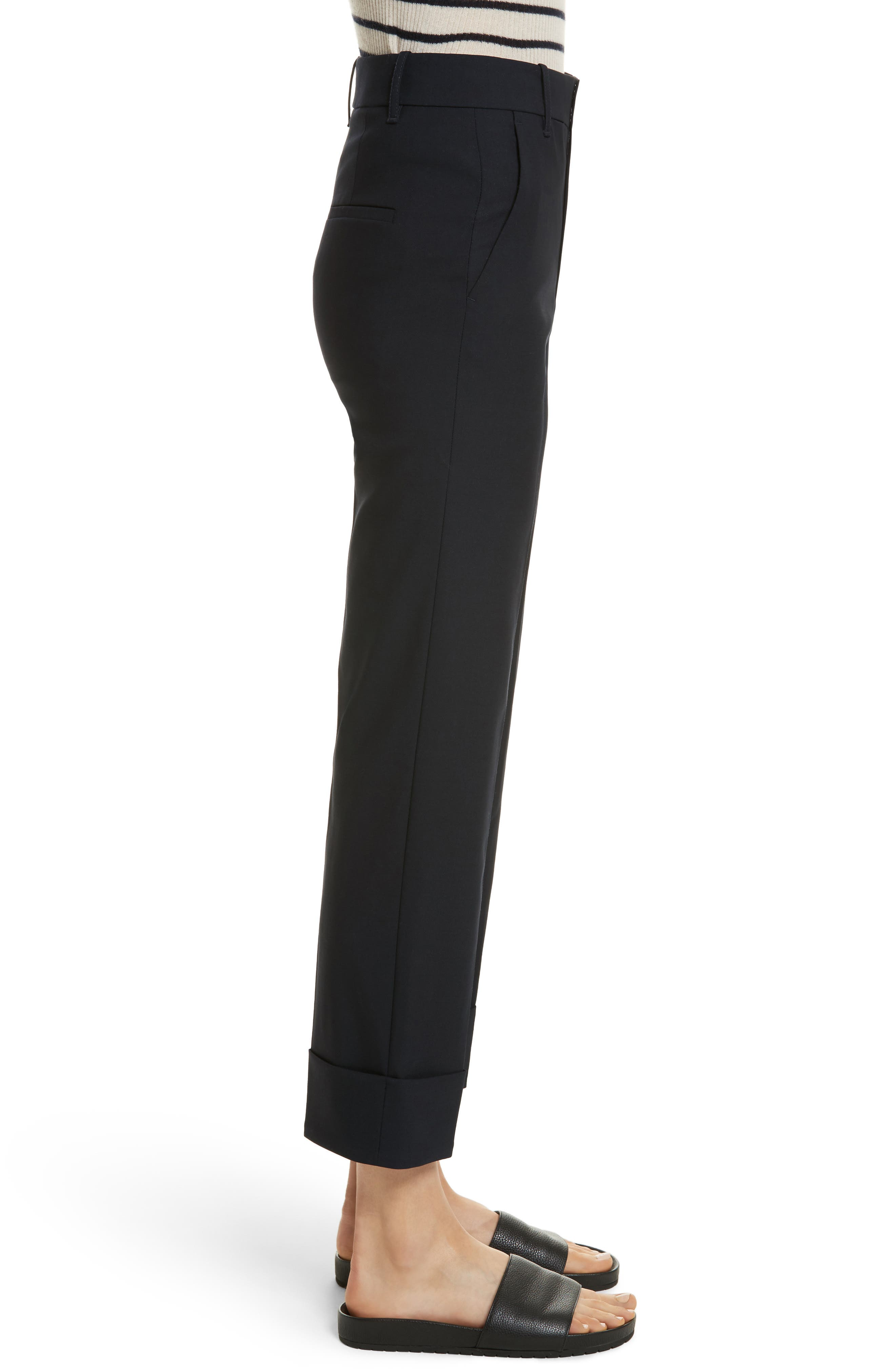 Cuffed Coin Pocket Trousers,                             Alternate thumbnail 6, color,
