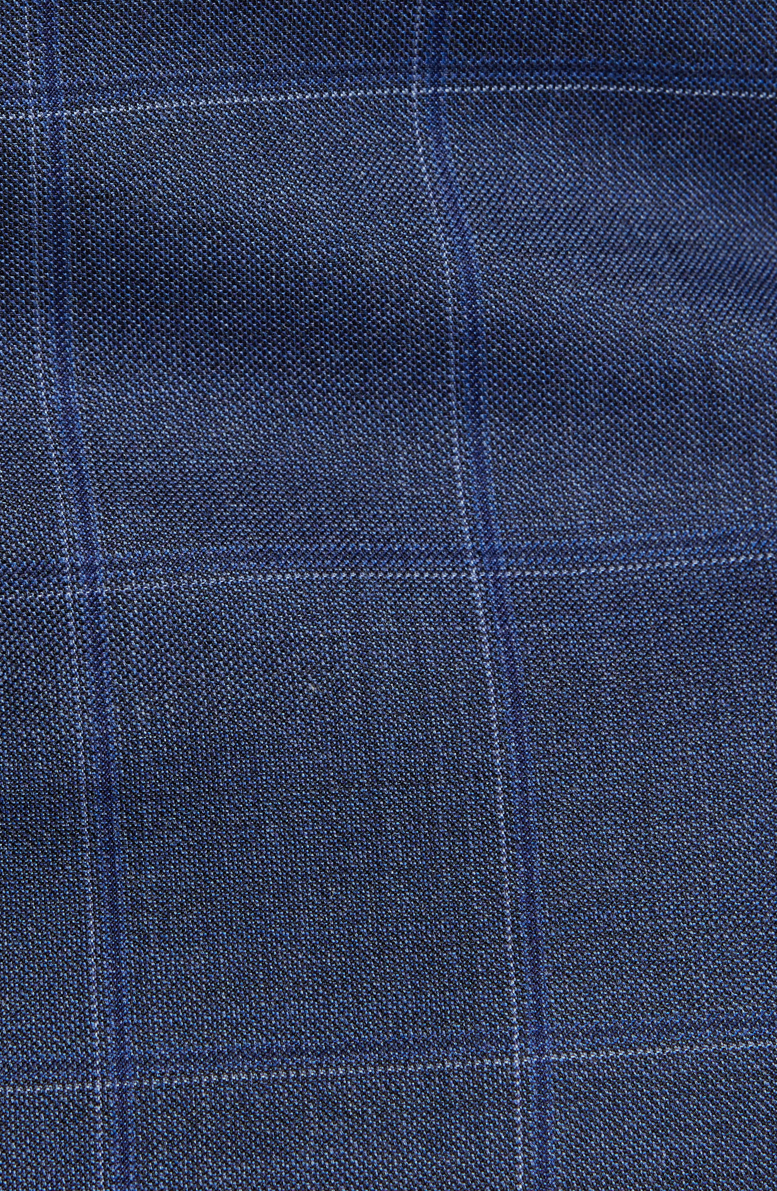 New York Classic Fit Windowpane Wool Suit,                             Alternate thumbnail 7, color,                             420