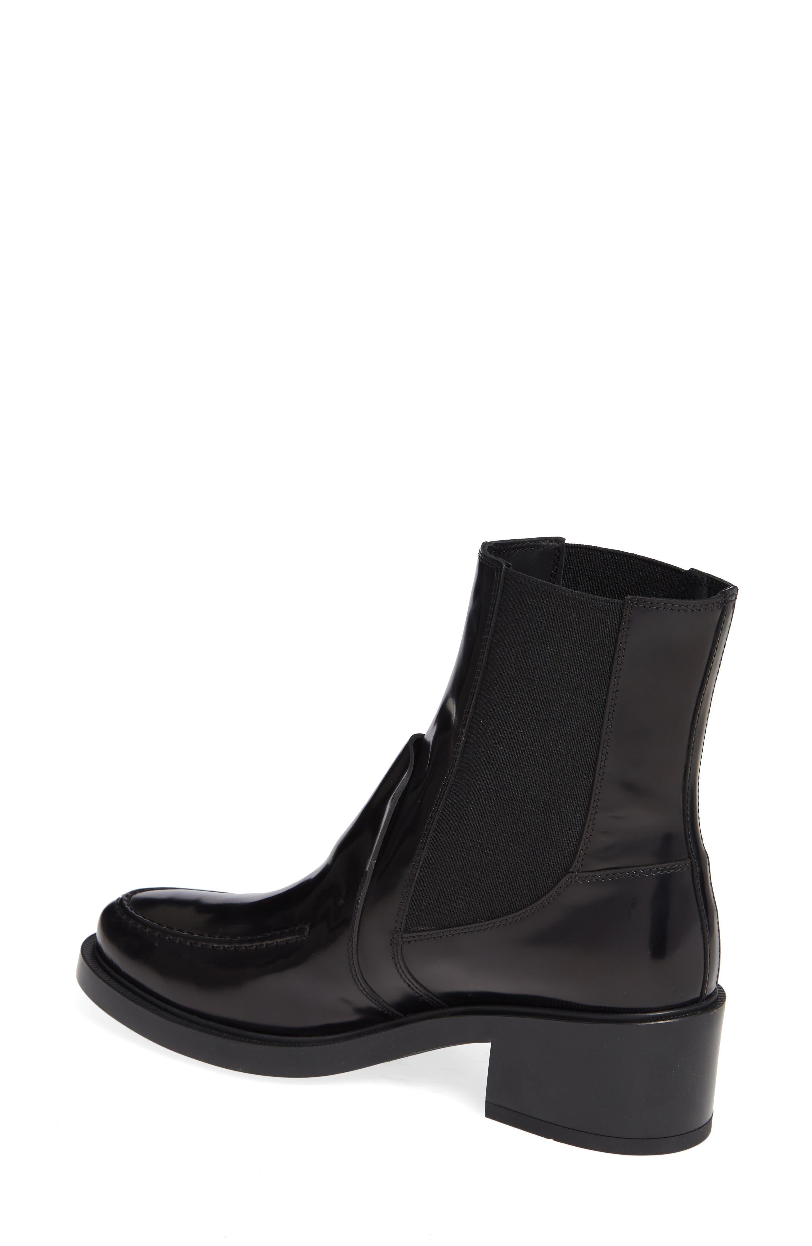 Block Heel Ankle Boot,                             Alternate thumbnail 2, color,                             001
