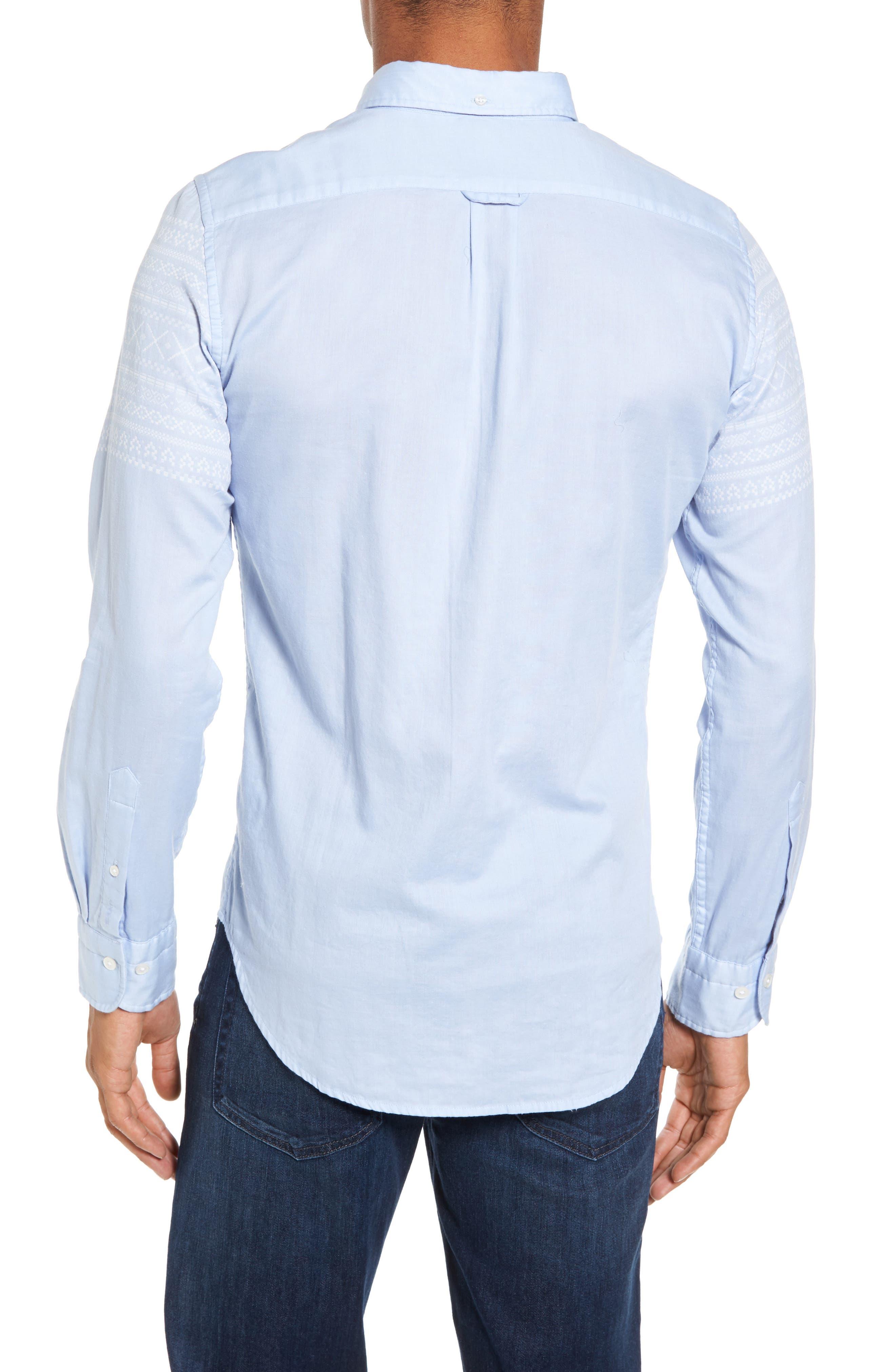 02 Extra Slim Fit Fair Isle Print Sport Shirt,                             Alternate thumbnail 2, color,                             420