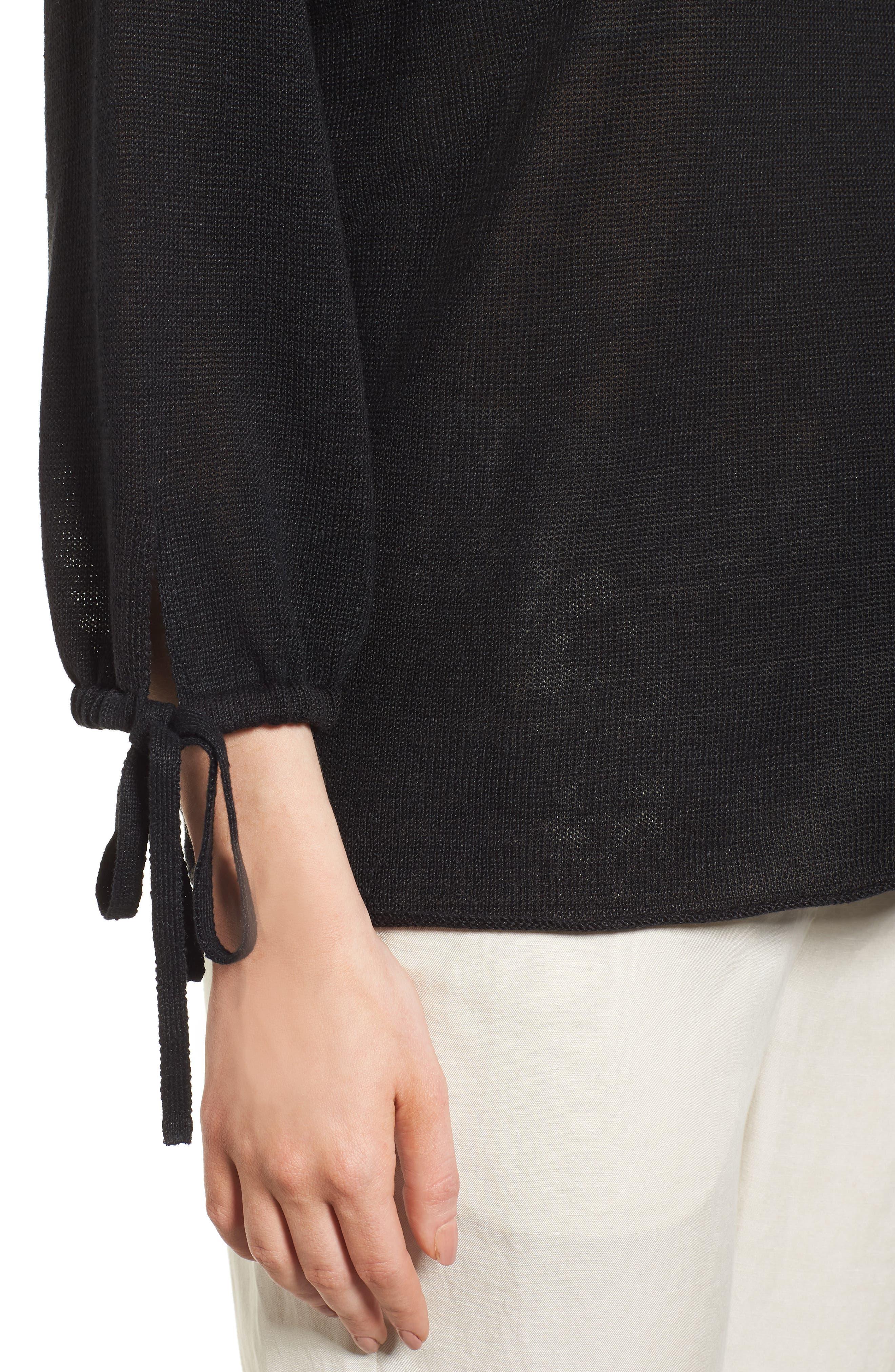 Organic Linen Sweater,                             Alternate thumbnail 13, color,