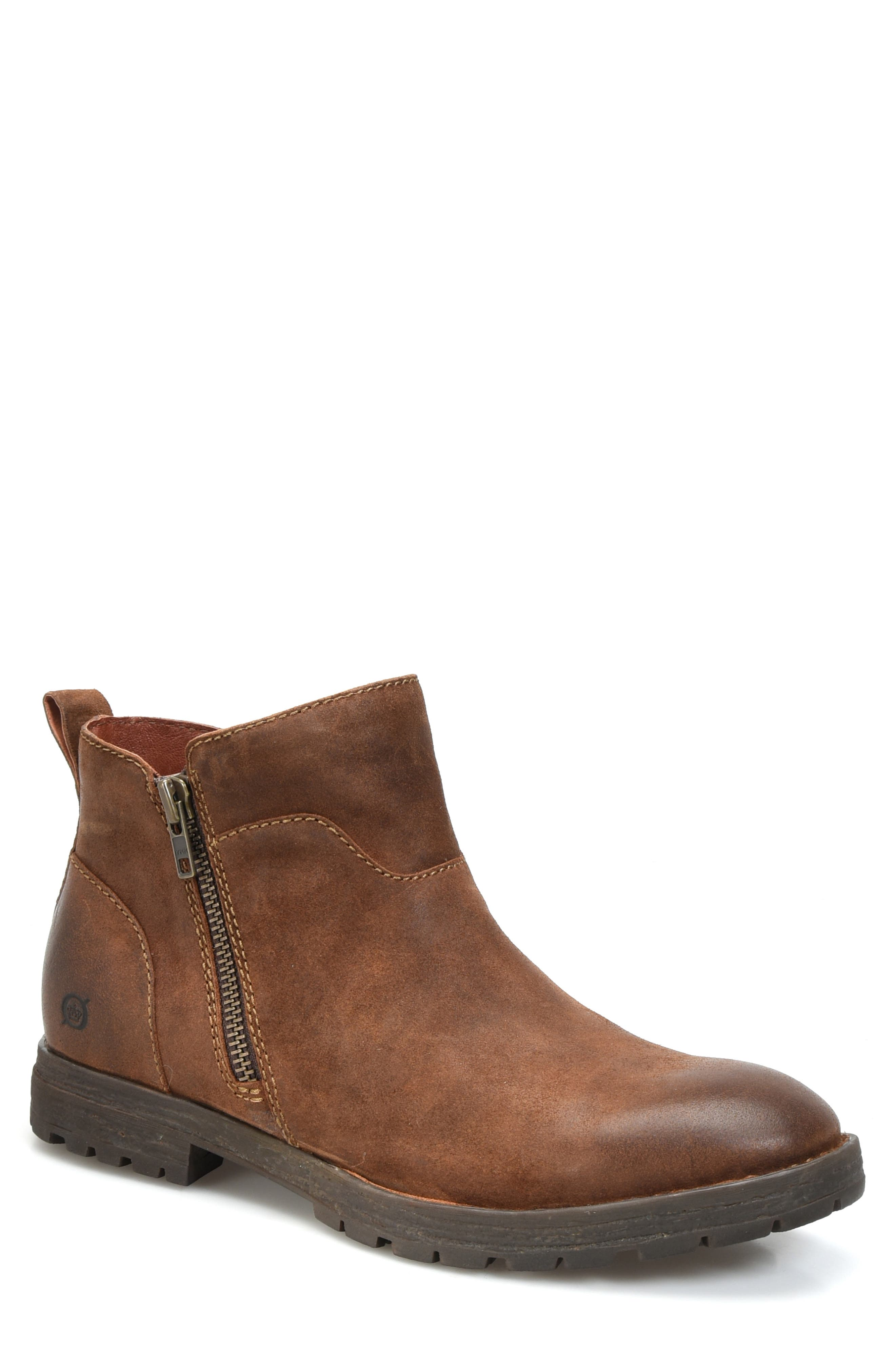 Born Ludo Zip Boot,                             Main thumbnail 1, color,                             RUST SUEDE