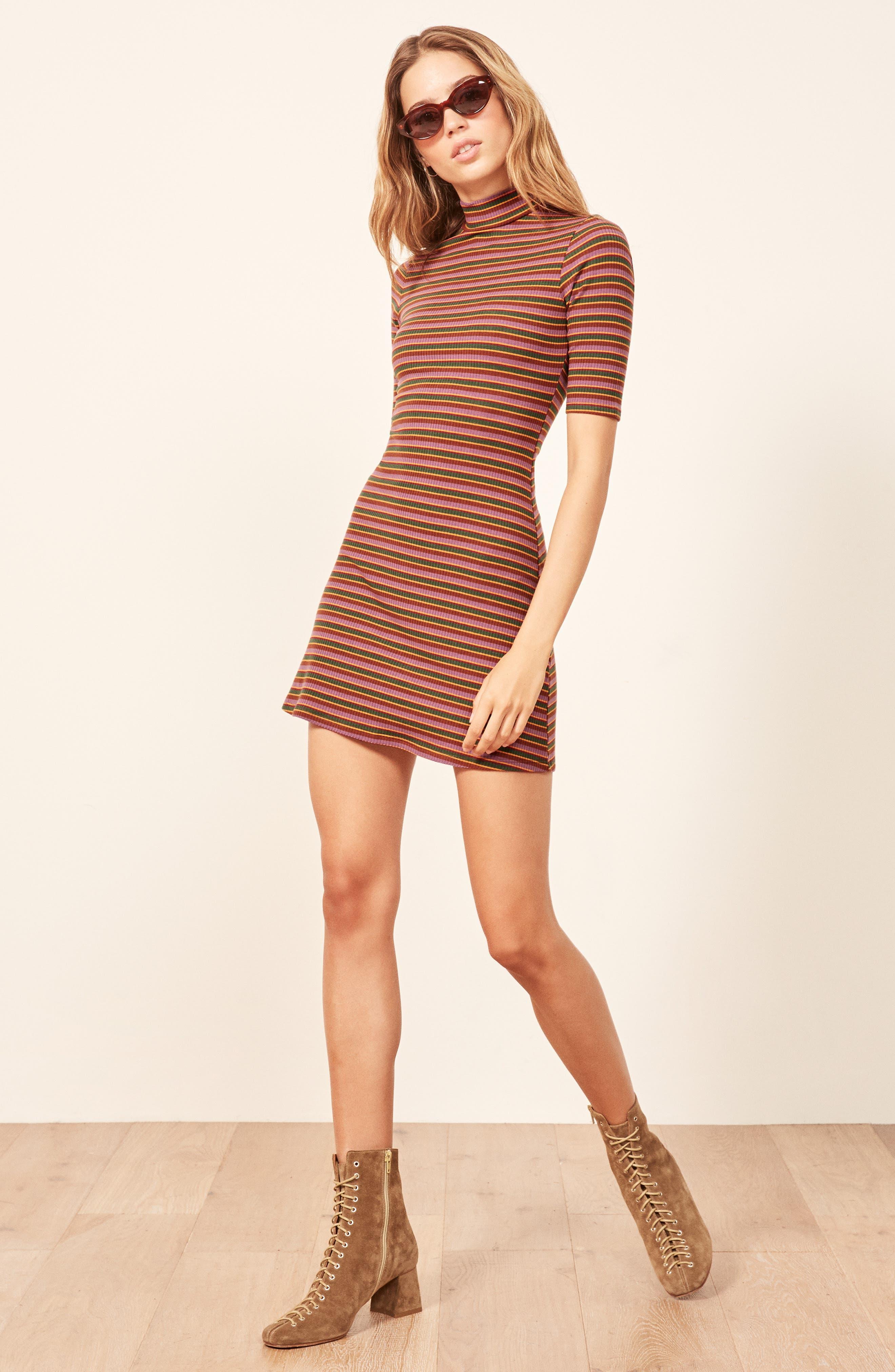 Mod Sweater Dress,                             Alternate thumbnail 3, color,                             GABRIEL STRIPE